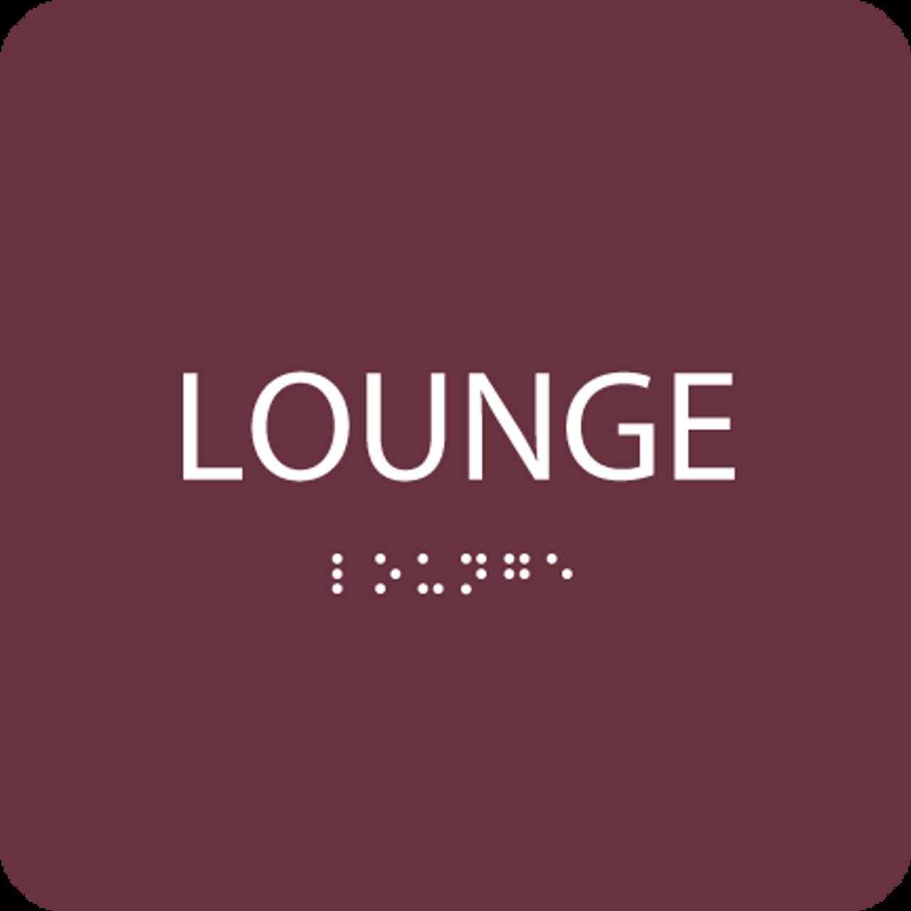 Burgundy Lounge ADA Sign