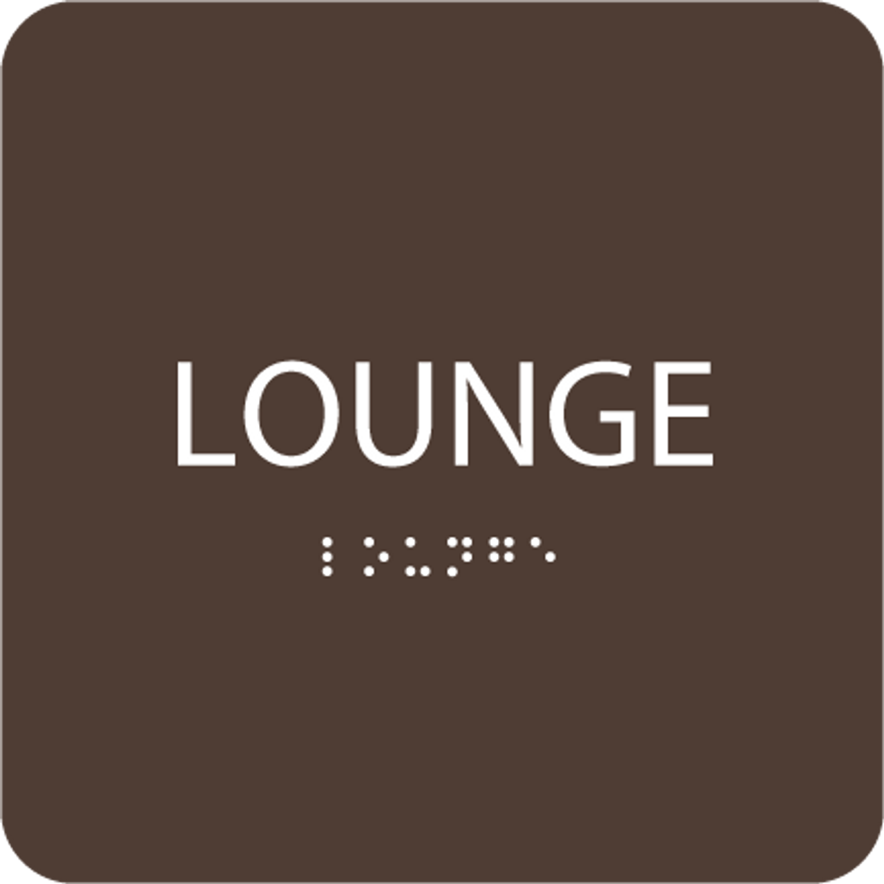 Dark Brown Lounge ADA Sign