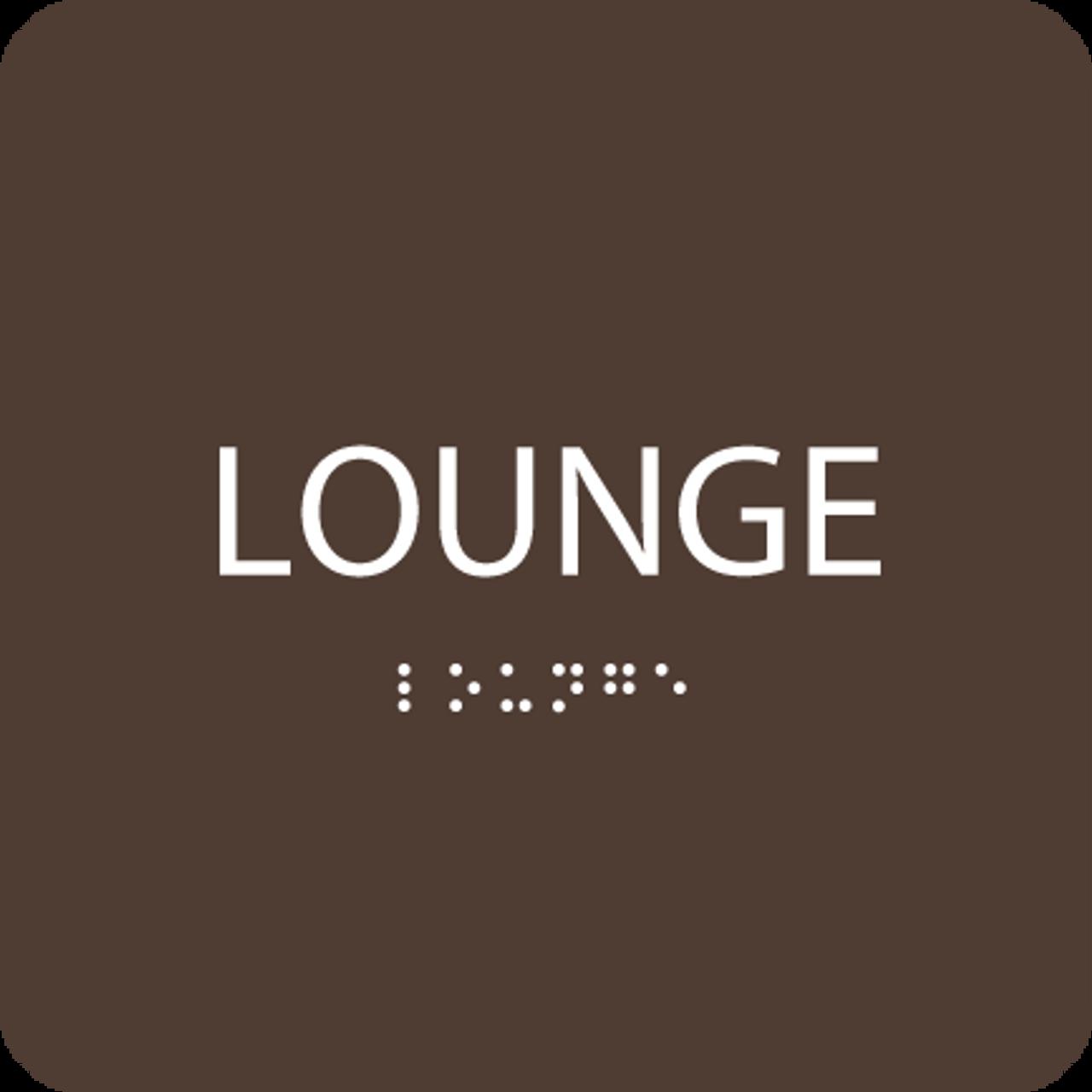 Dark Brown Lounge ADA Sign