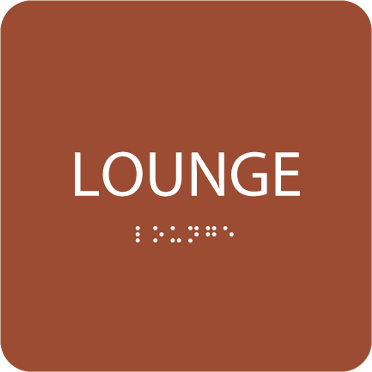 Orange Lounge ADA Sign