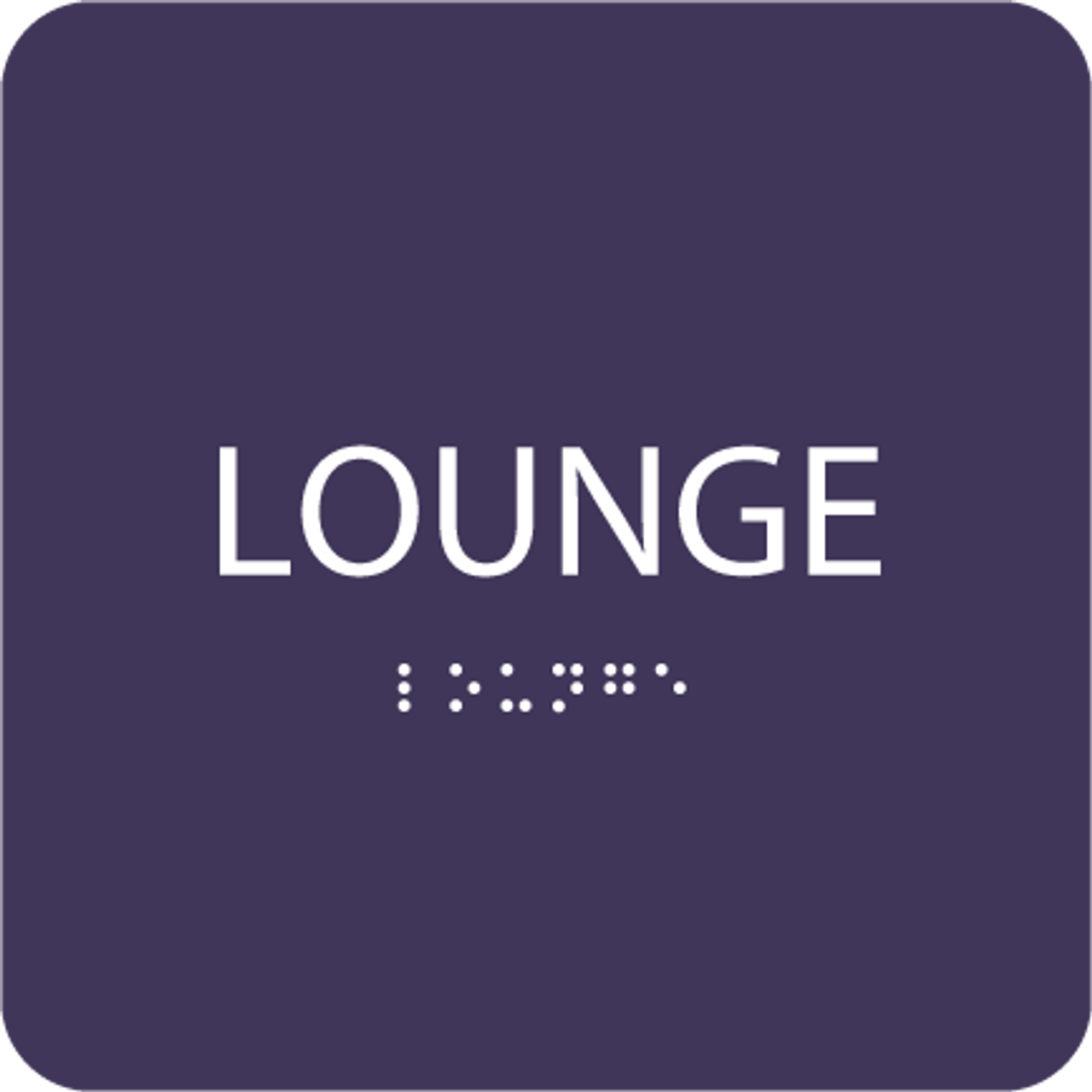 Purple Lounge ADA Sign