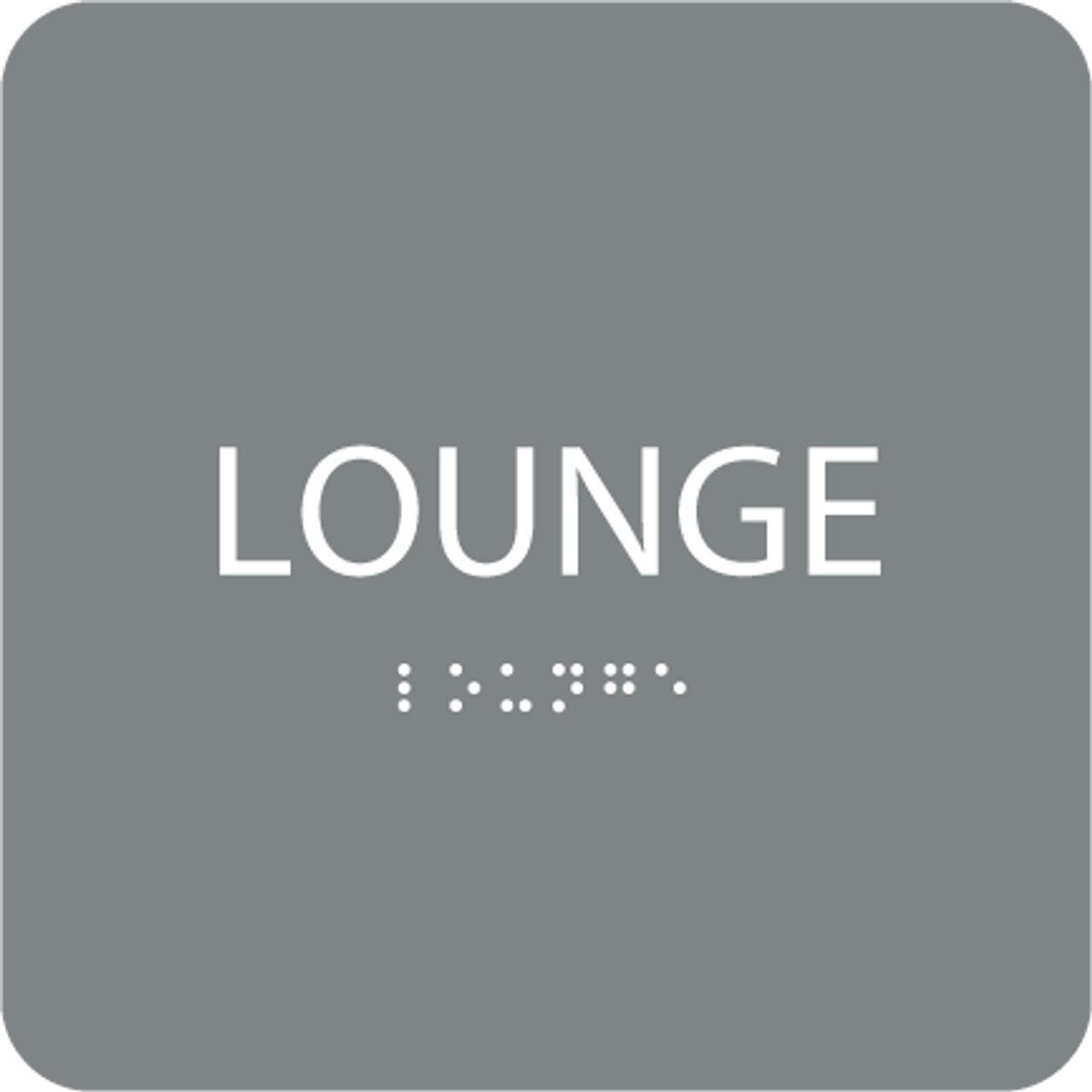 Grey  Lounge ADA Sign