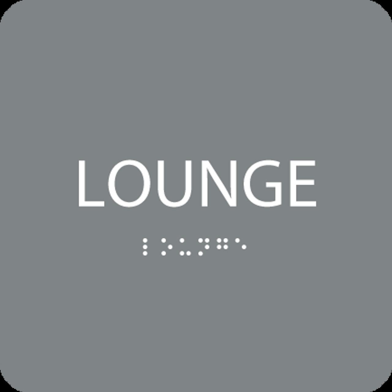 Grey  Lounge ADA Sign