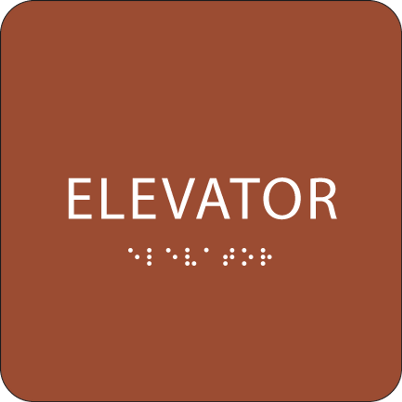 Orange ADA Elevator Sign