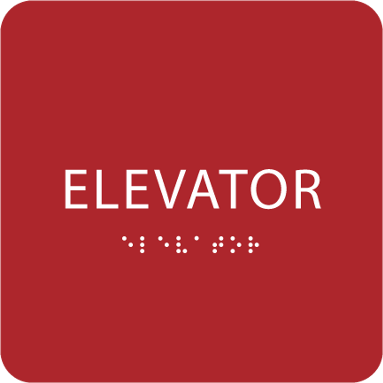 Red ADA Elevator Sign