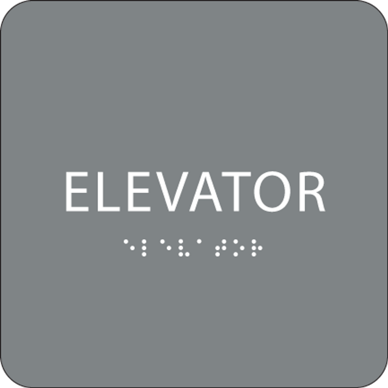 Grey ADA Elevator Sign