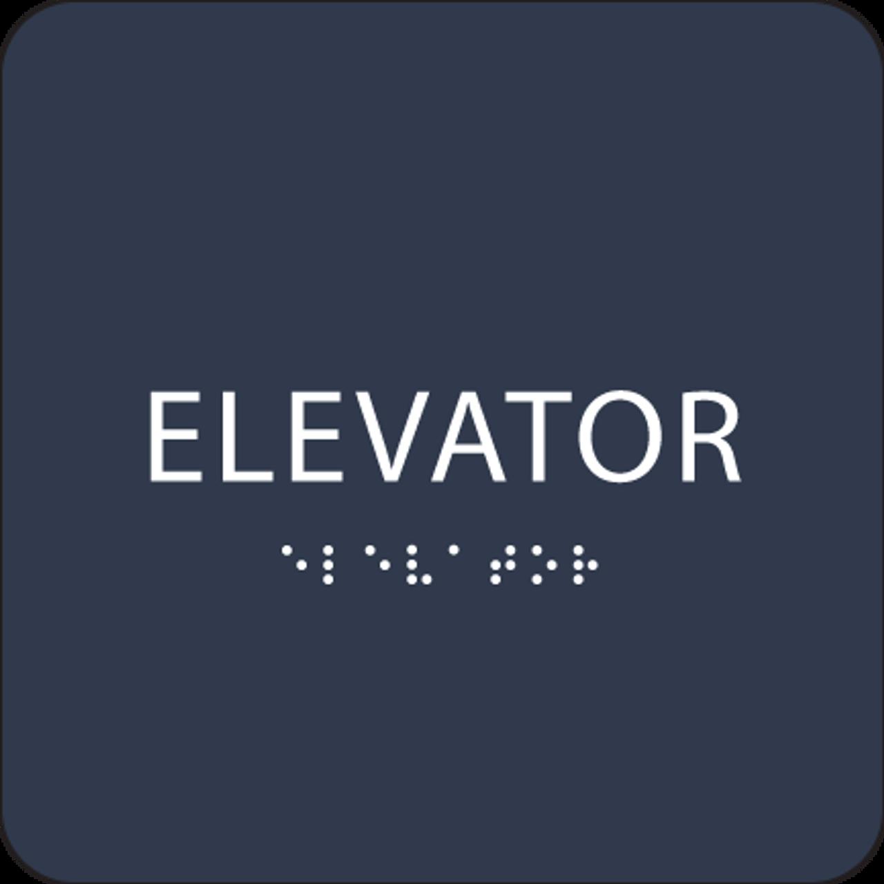 Navy ADA Elevator Sign