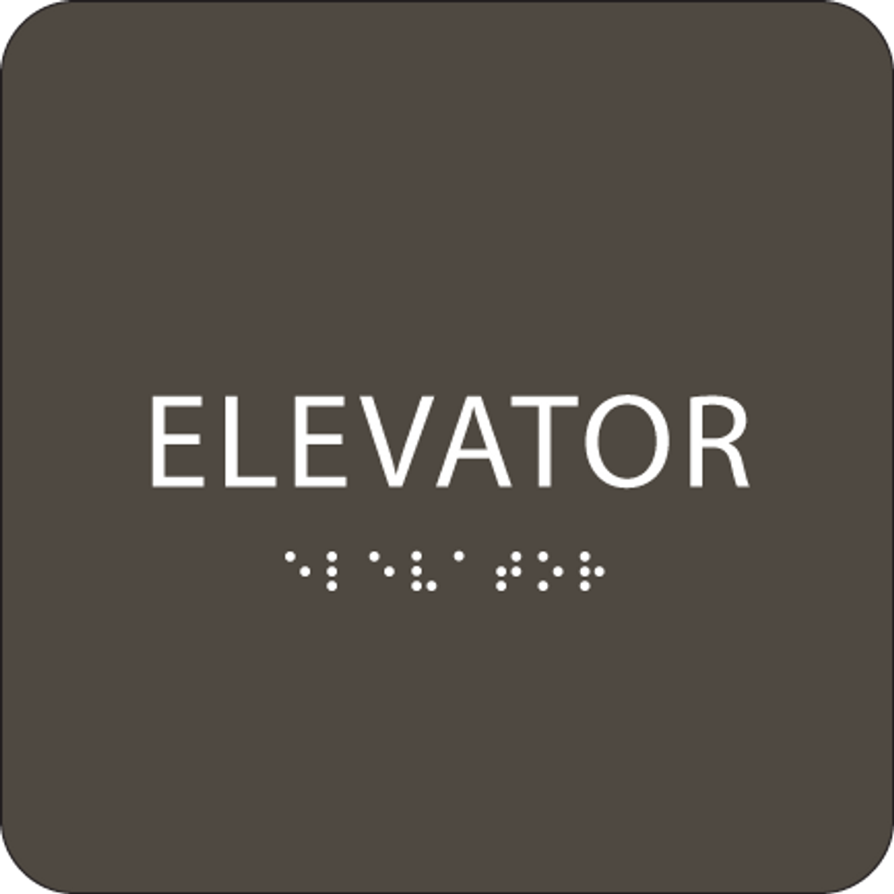 "Elevator ADA Sign - 6"" x 6"""
