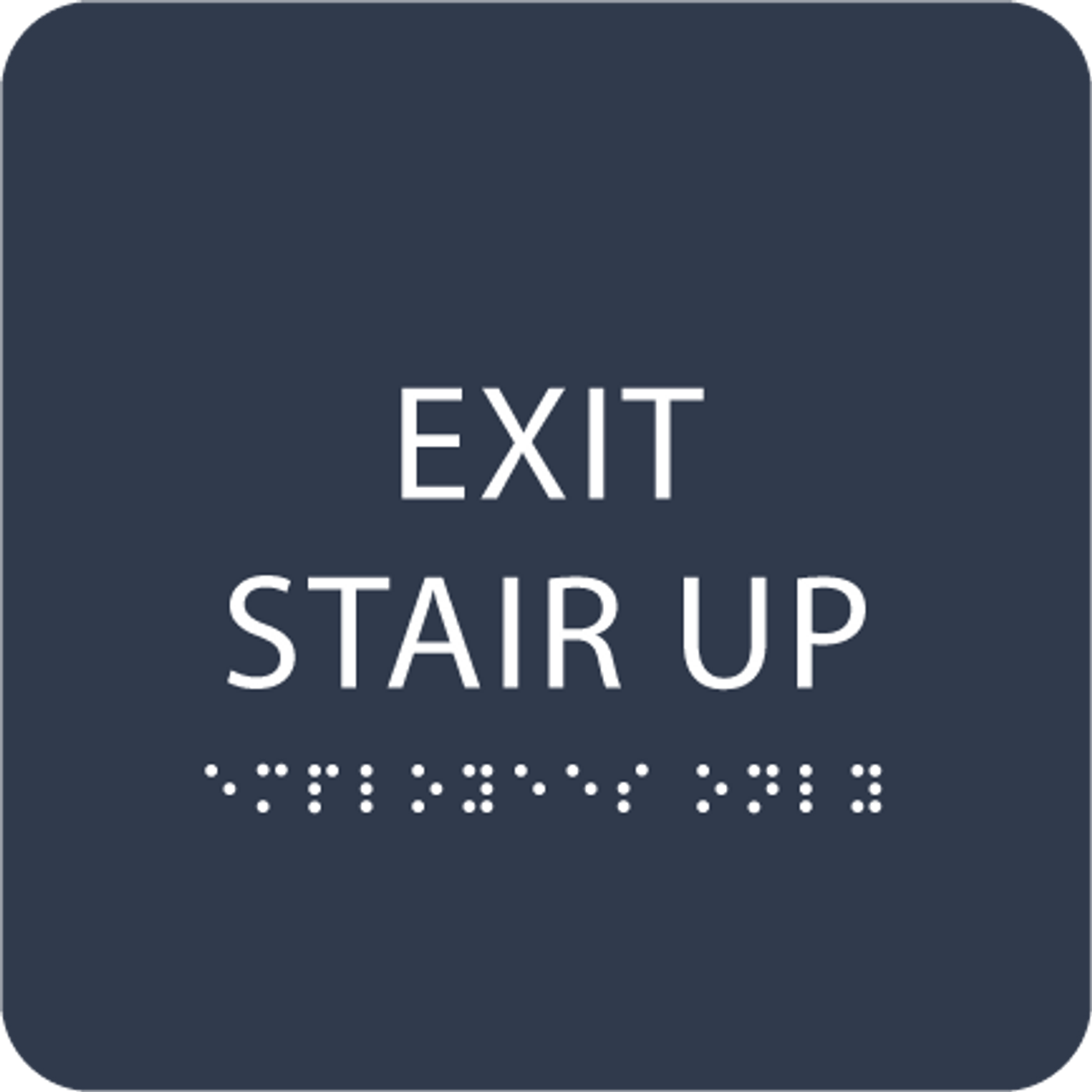 Navy Exit Stair Up ADA Sign
