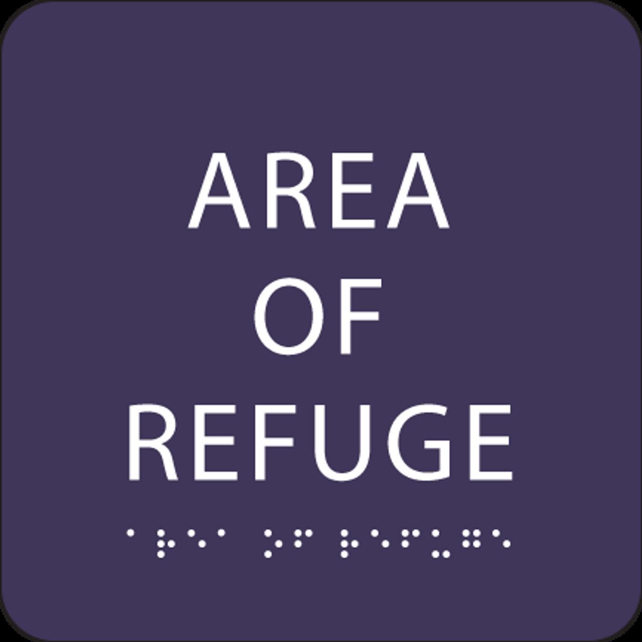 Purple Area of Refuge ADA Sign