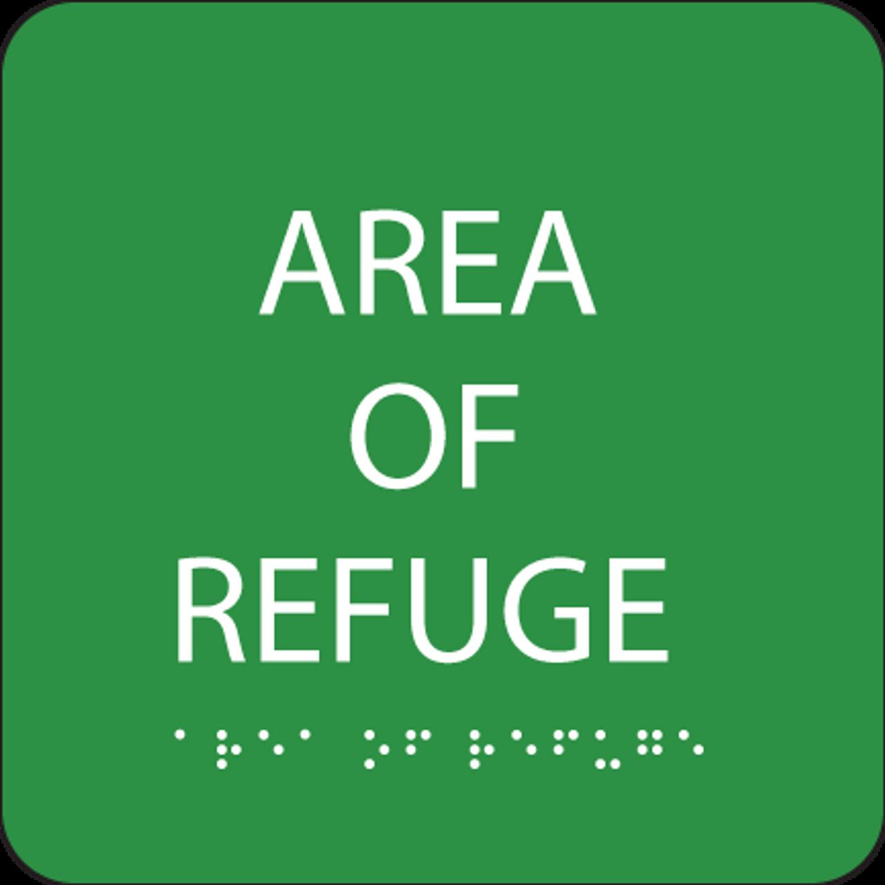 Green Area of Refuge ADA Sign