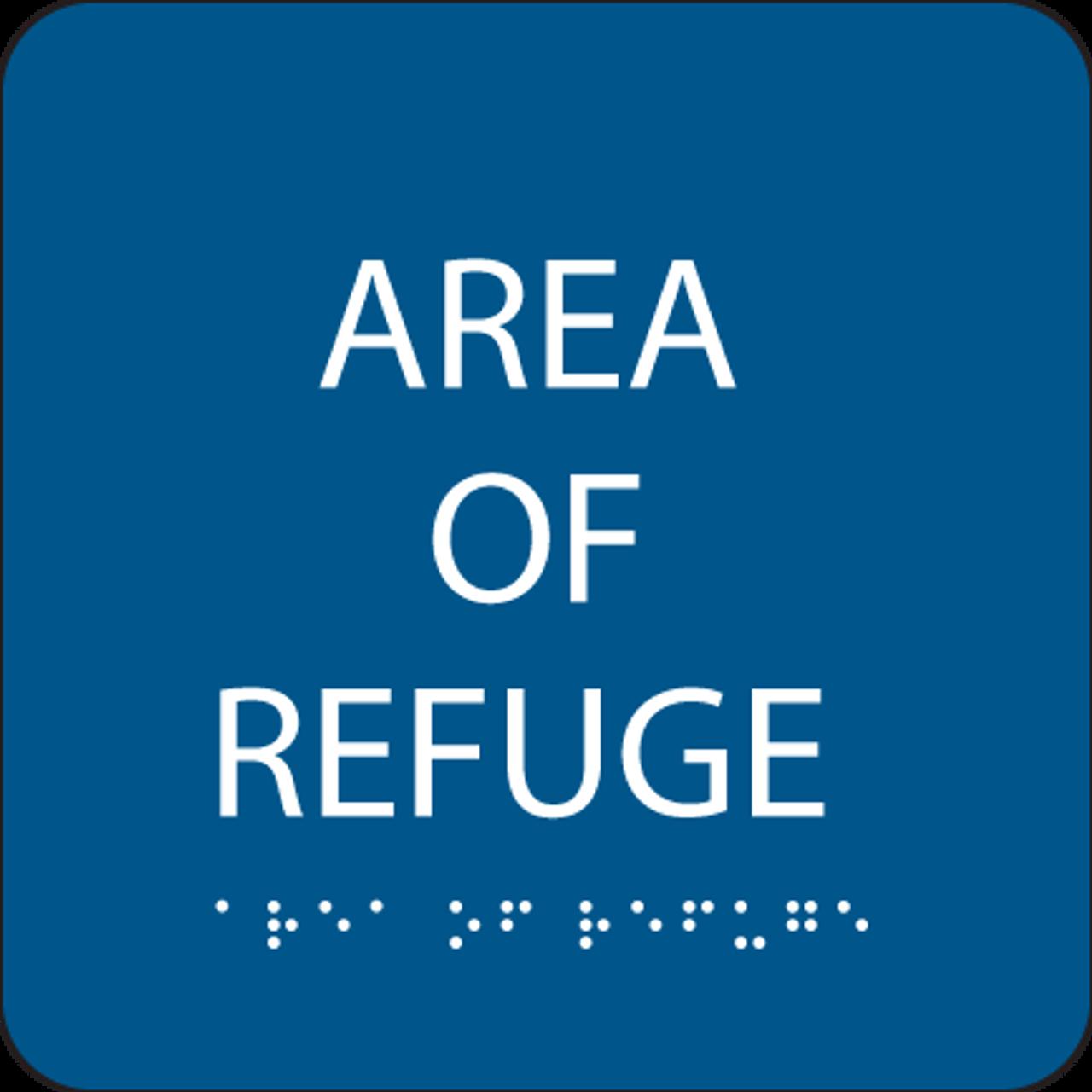 Blue Area of Refuge ADA Sign