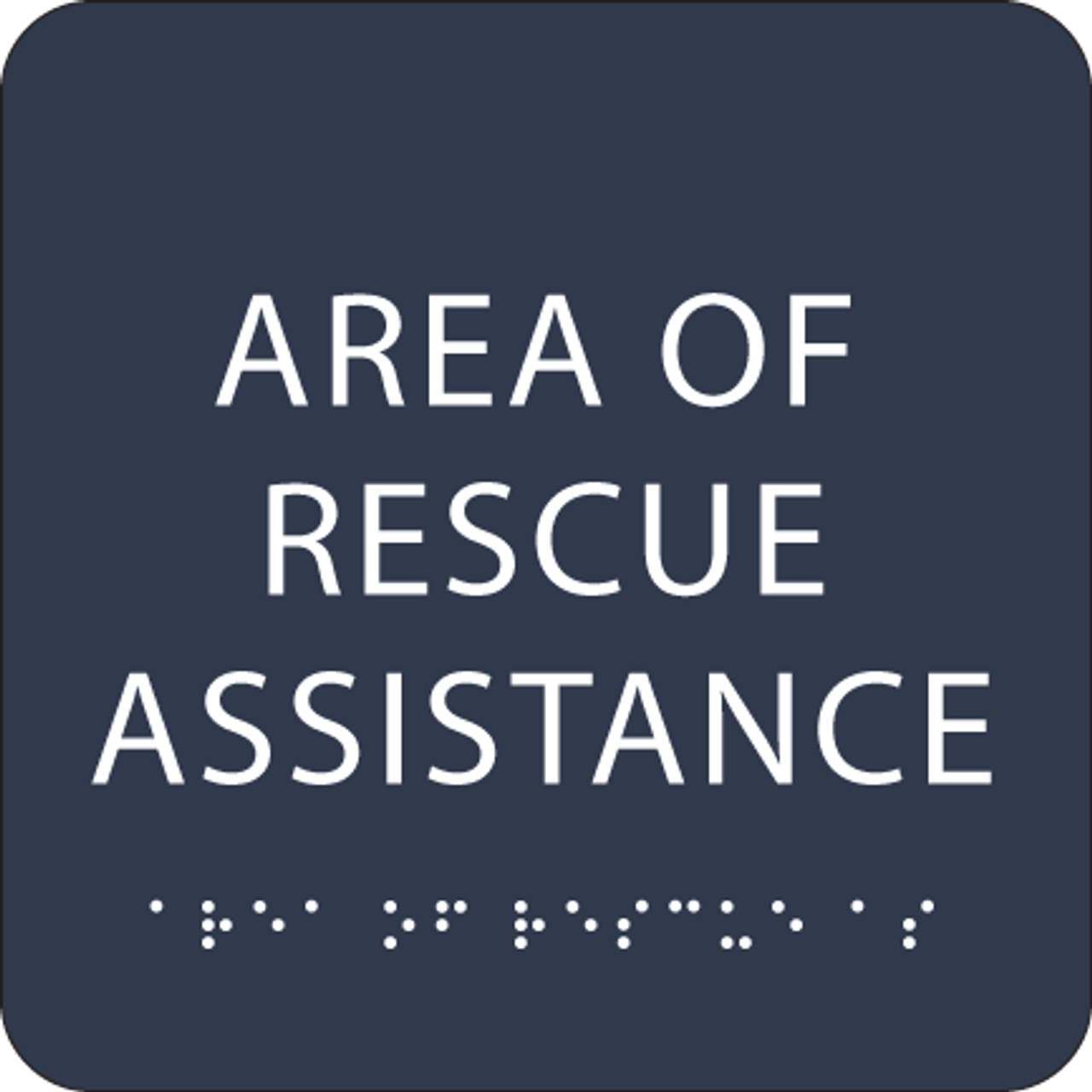 Navy Area of Rescue Assistance ADA Sign