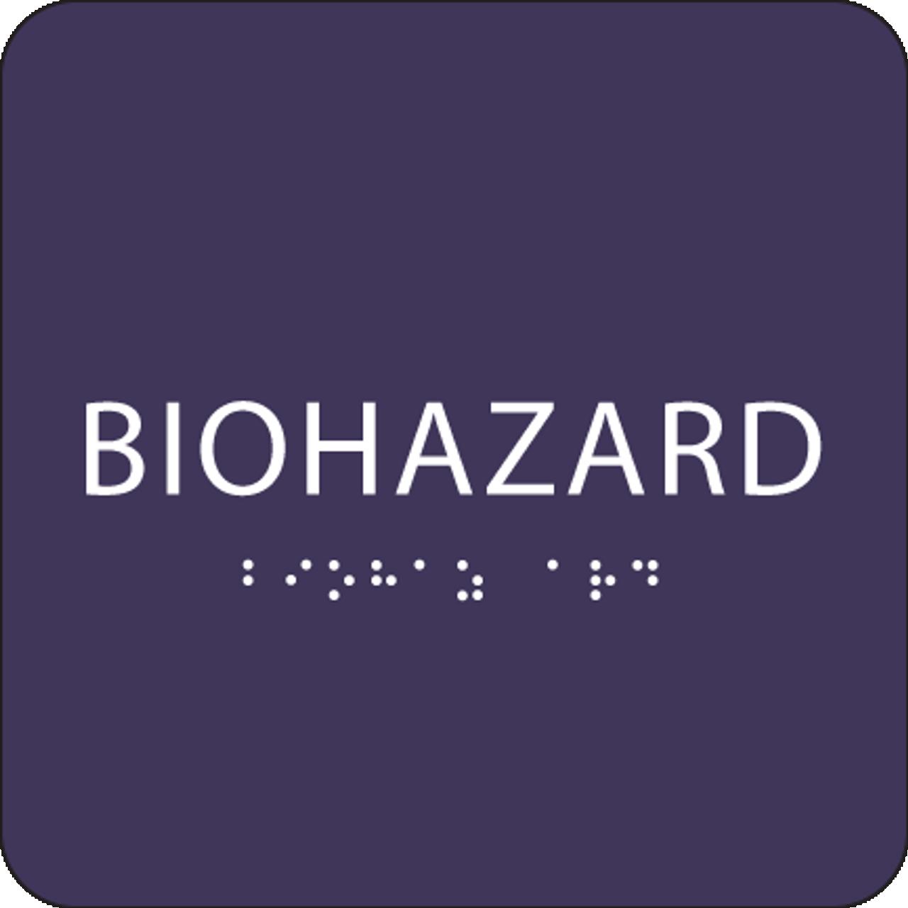 Purple Biohazard ADA Sign
