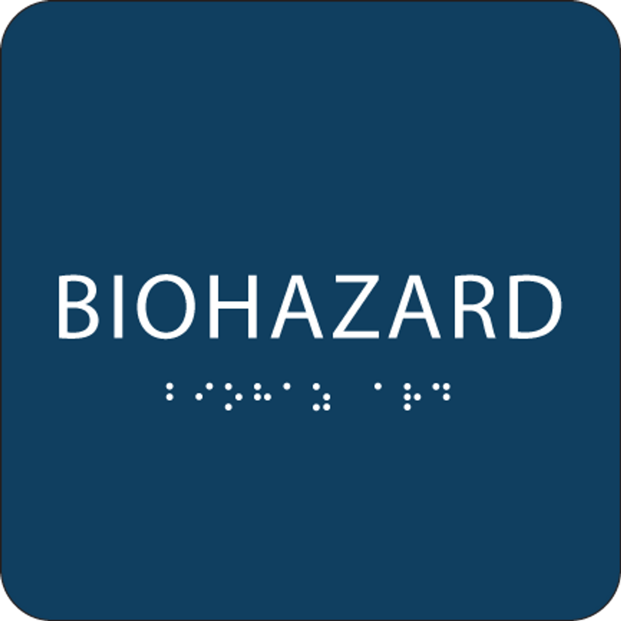 Dark Blue Biohazard ADA Sign