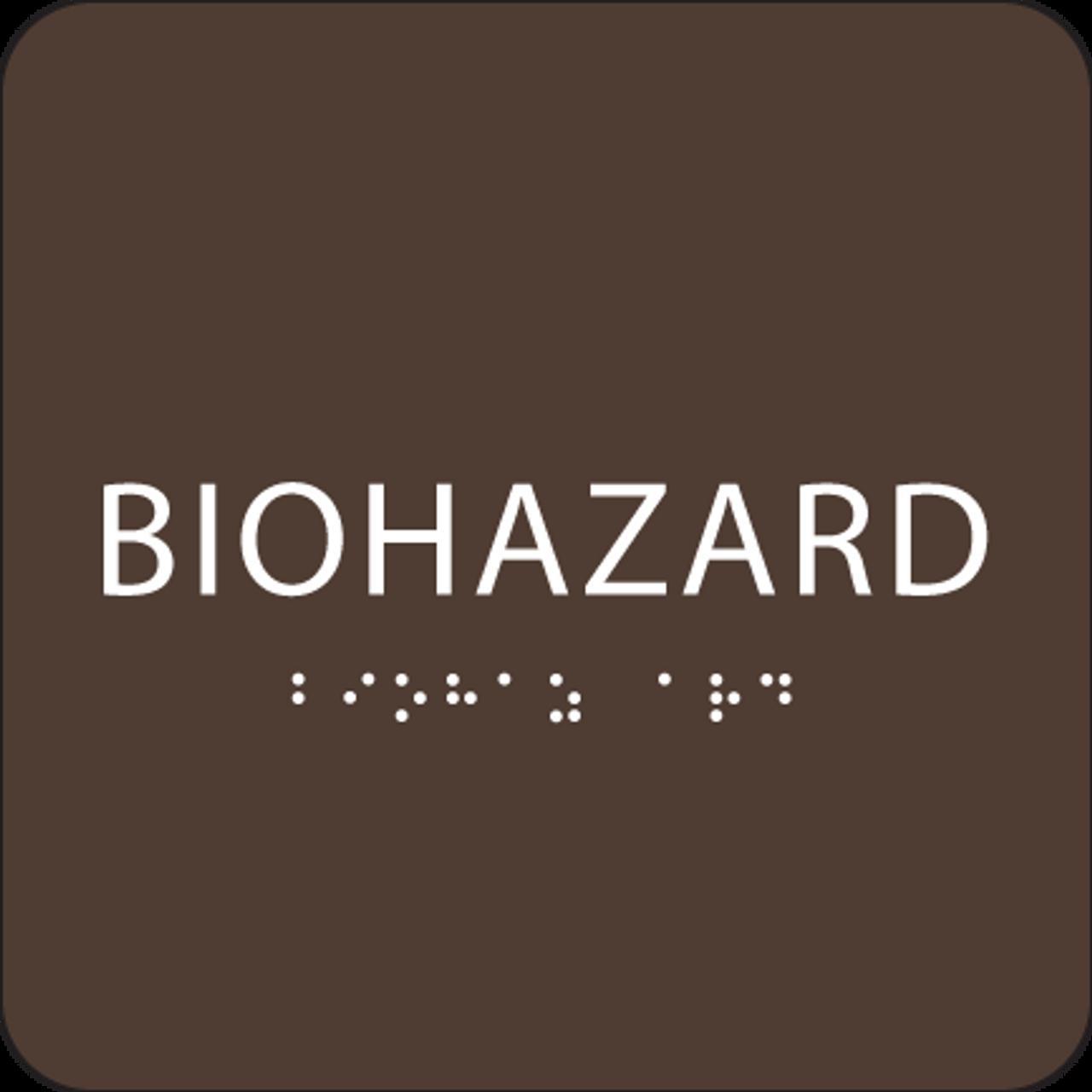 Dark Brown Biohazard ADA Sign