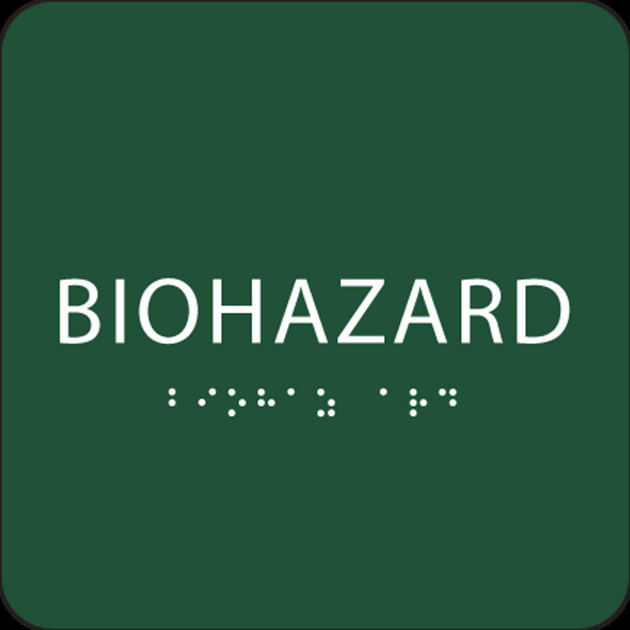 Green Biohazard ADA Sign
