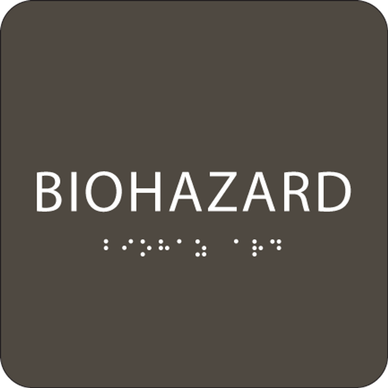"Biohazard ADA Sign - 6"" x 6"""