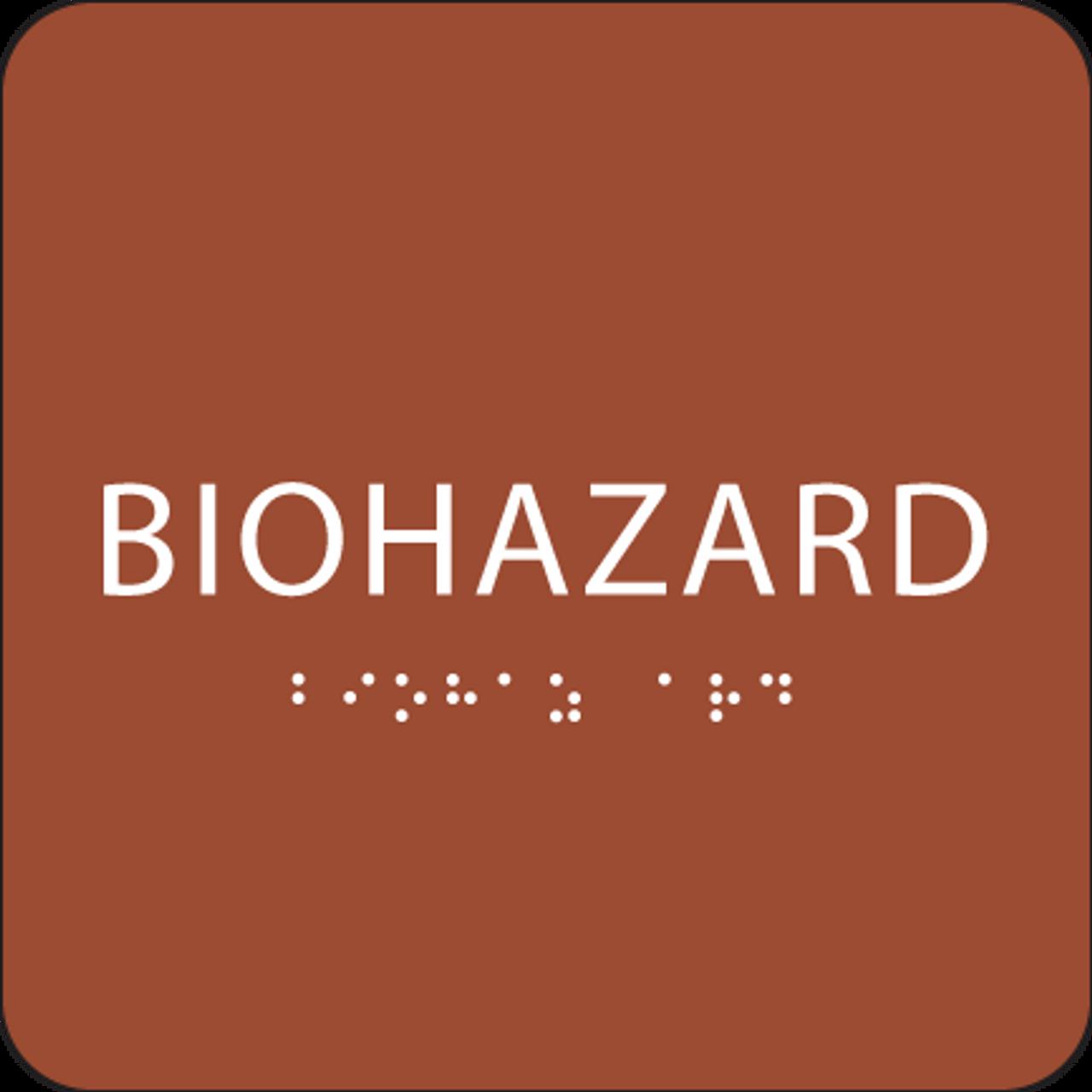 Orange Biohazard ADA Sign