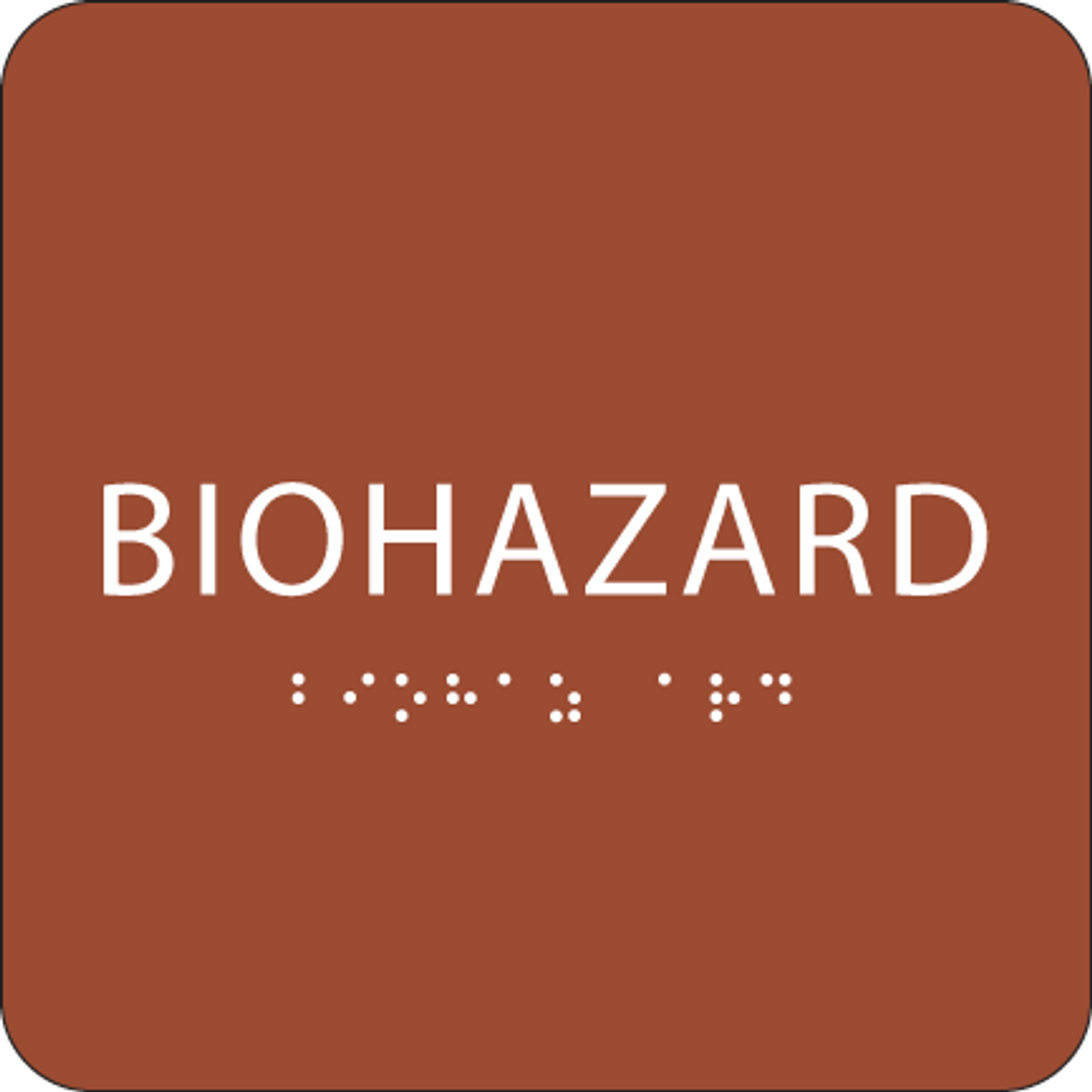 Orange Biohazard ADA Sign