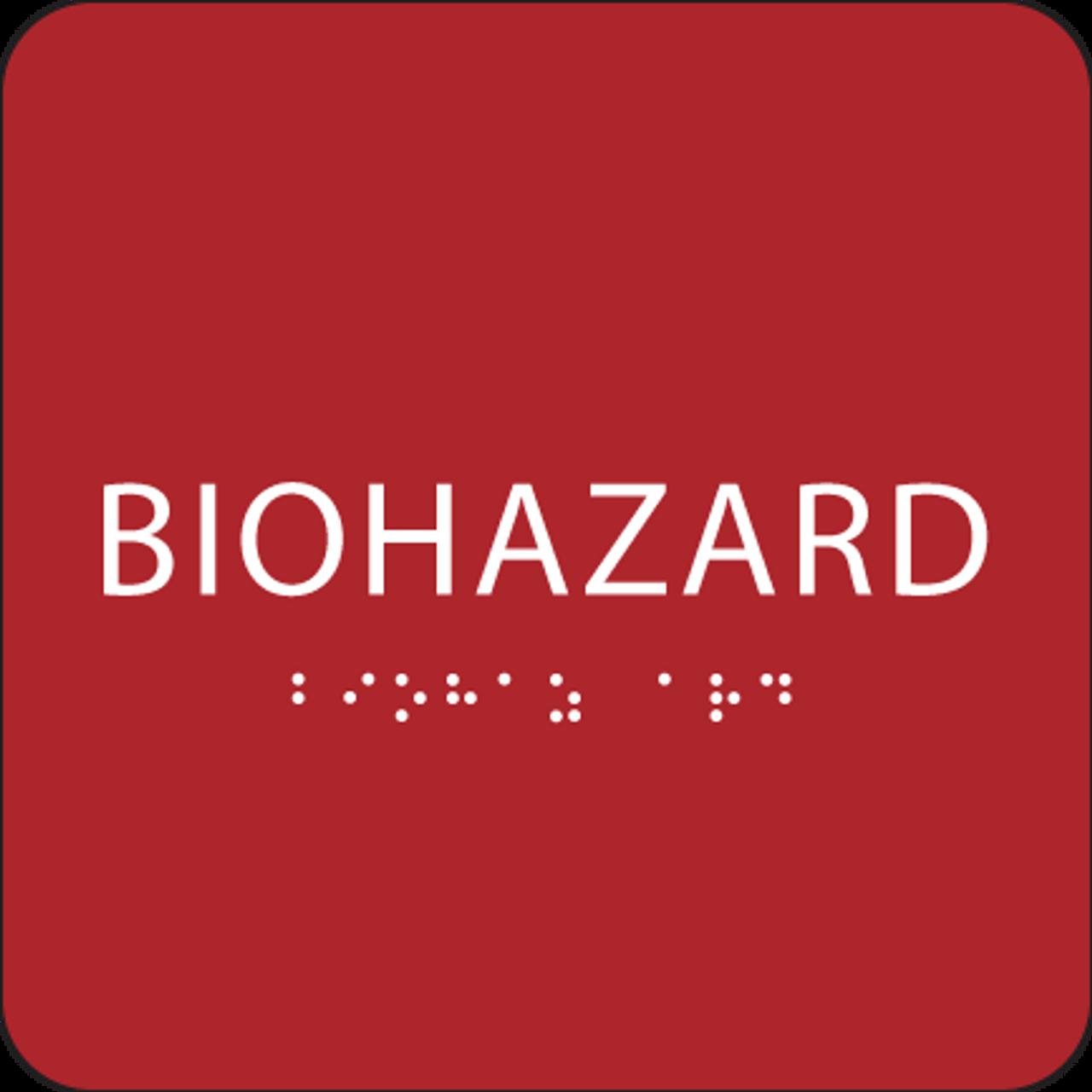 Red Biohazard ADA Sign