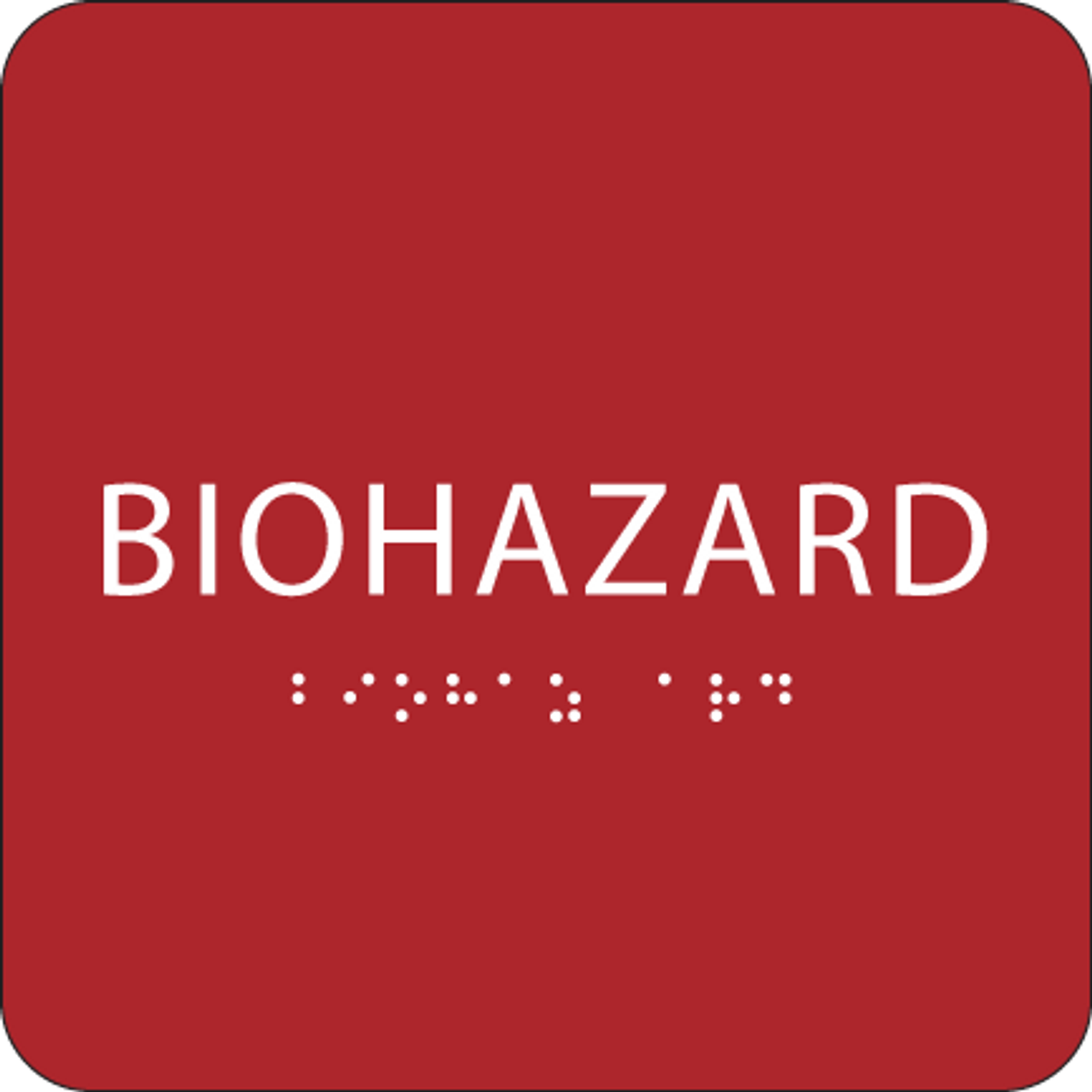 Red Biohazard ADA Sign