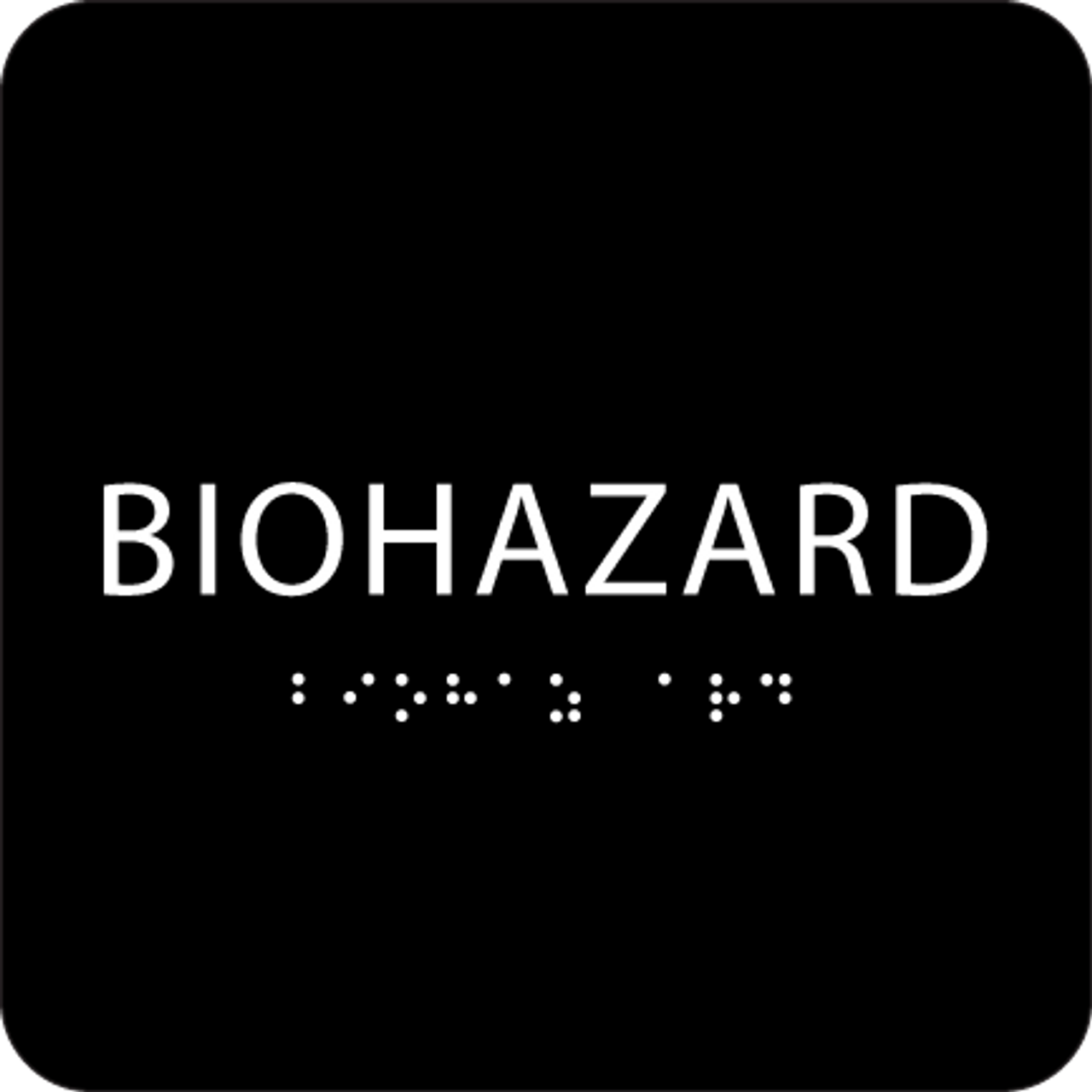 Black Biohazard ADA Sign