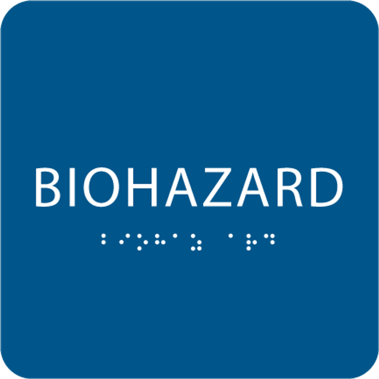 Blue Biohazard ADA Sign