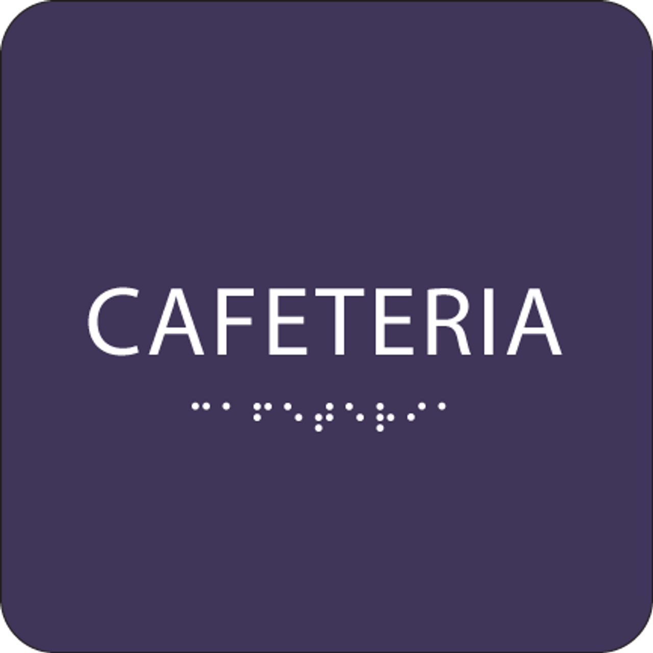 Purple Cafeteria ADA Sign