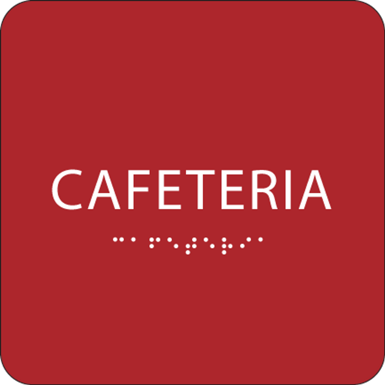 Red Cafeteria ADA Sign