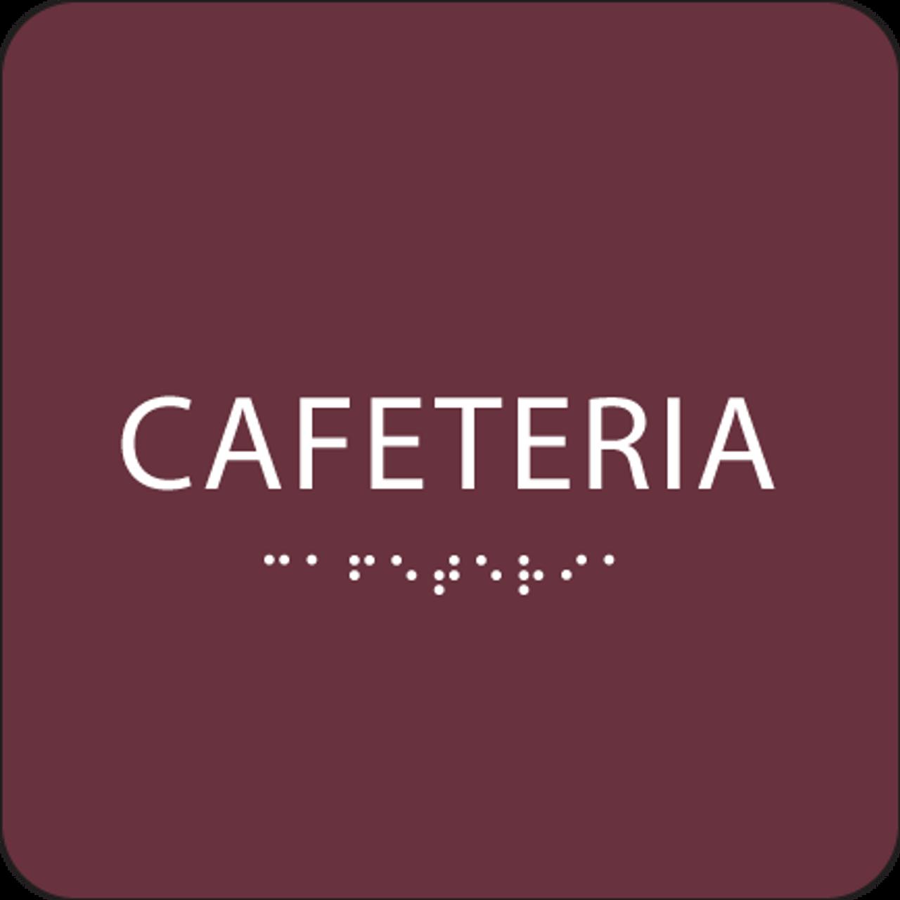 Burgundy Cafeteria ADA Sign