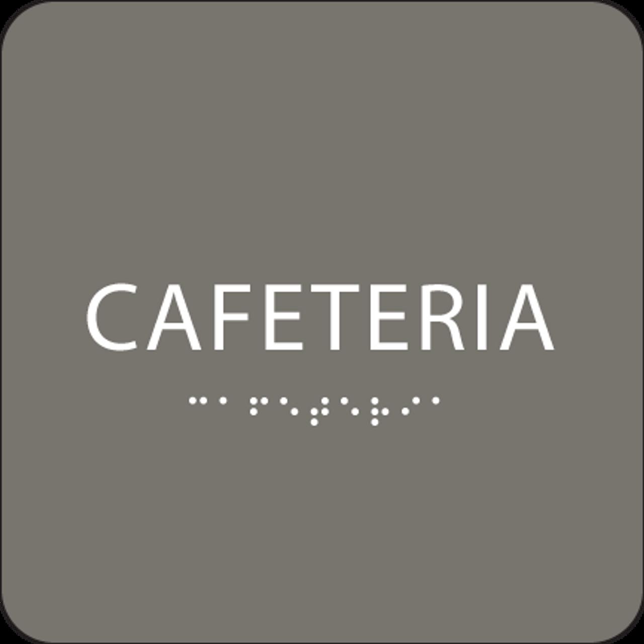 Dark Grey Cafeteria ADA Sign
