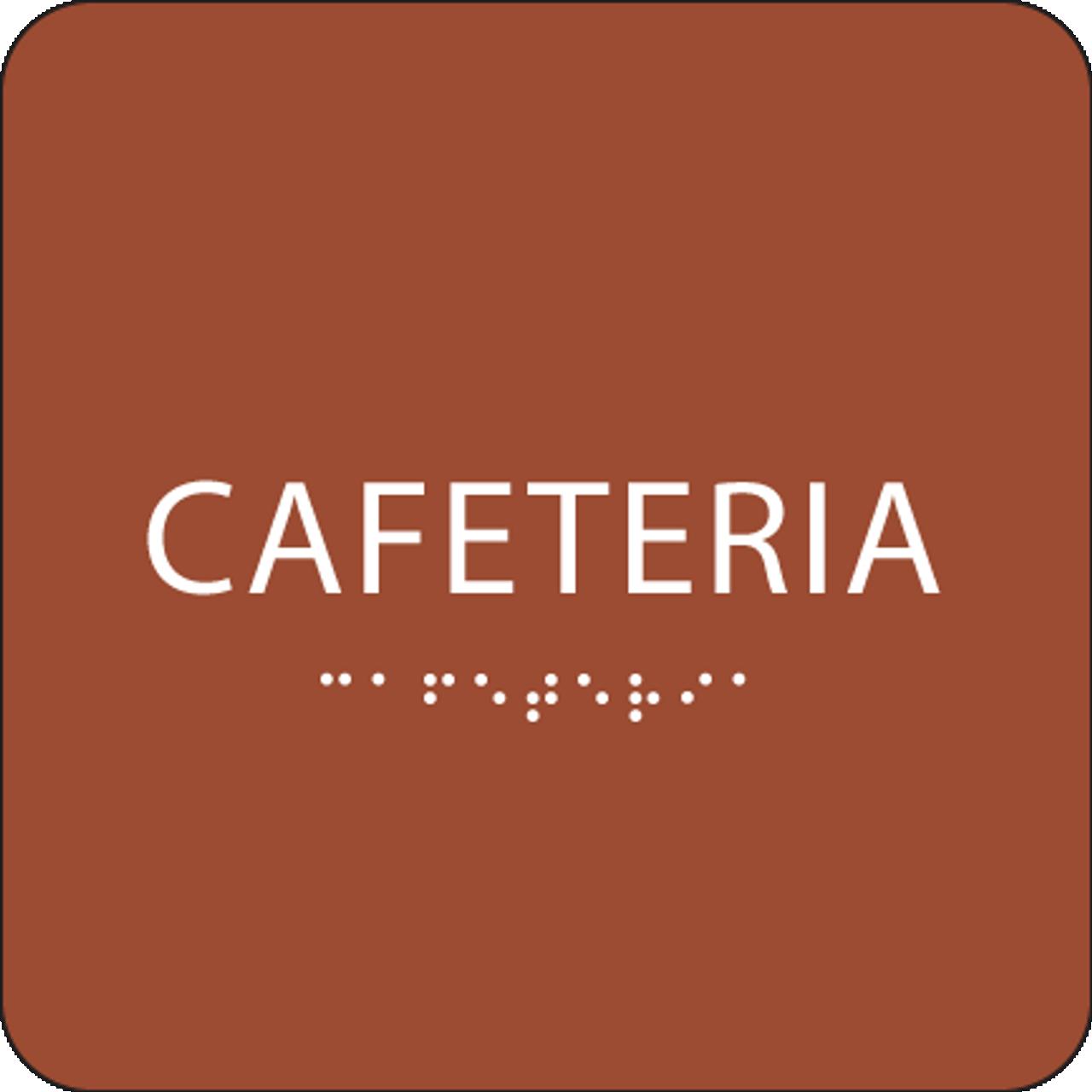 Orange Cafeteria ADA Sign