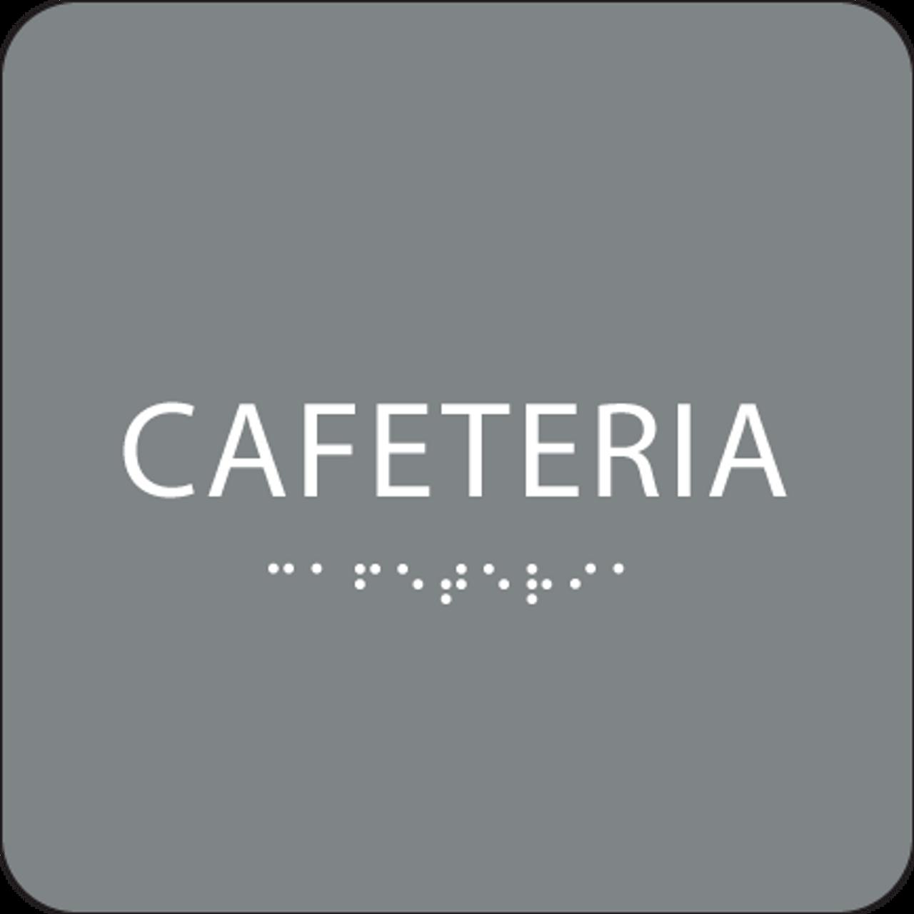 Grey Cafeteria ADA Sign