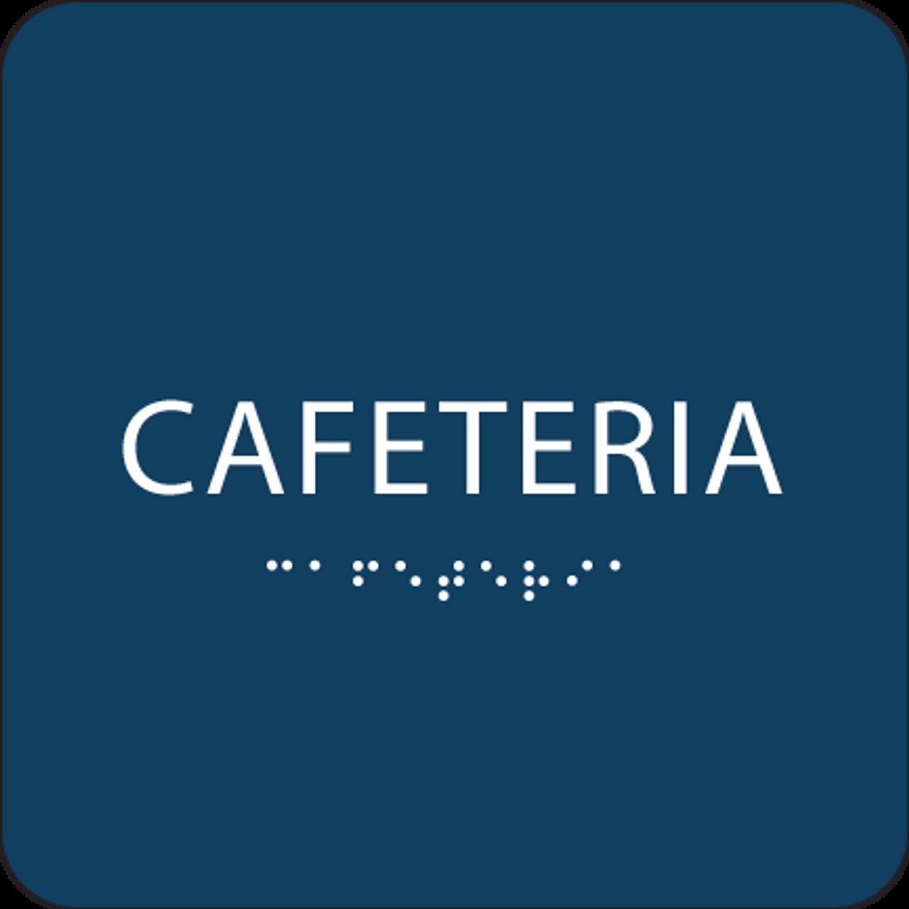 Dark Blue Cafeteria ADA Sign