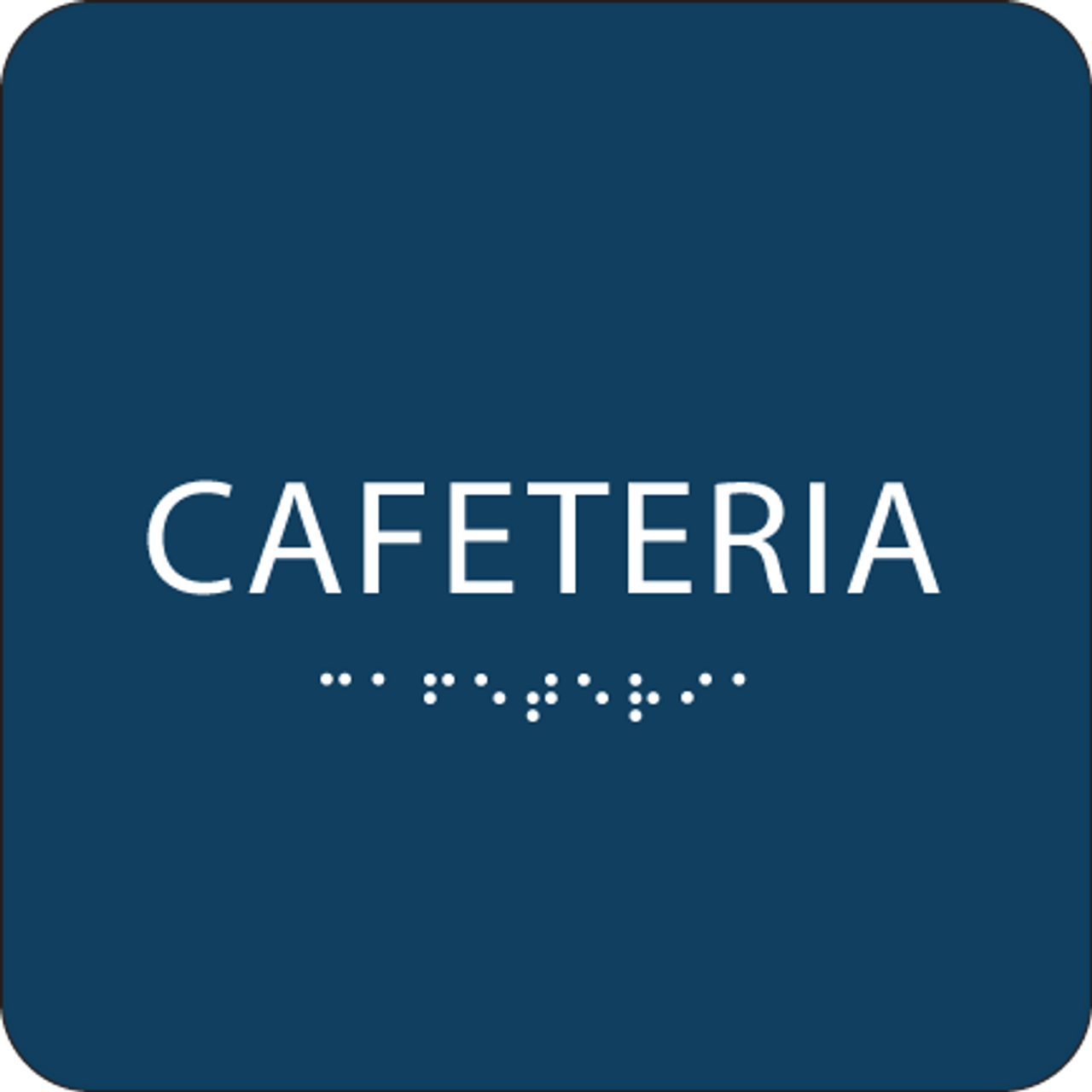 Dark Blue Cafeteria ADA Sign