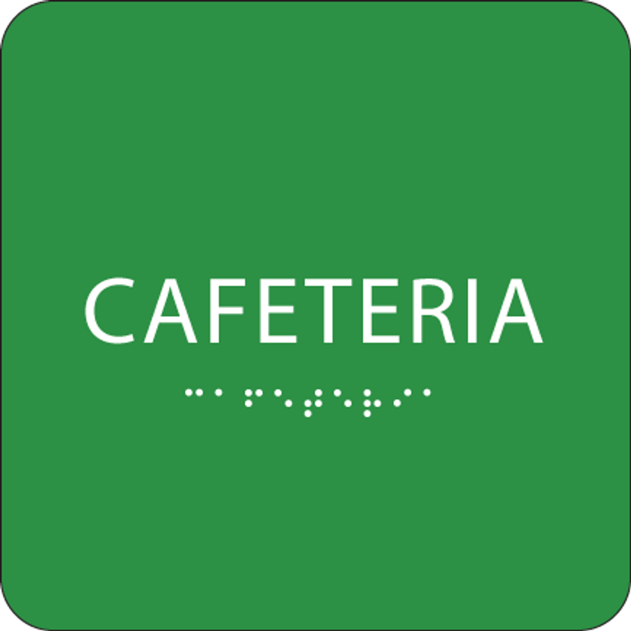 Green Cafeteria Tactile Sign