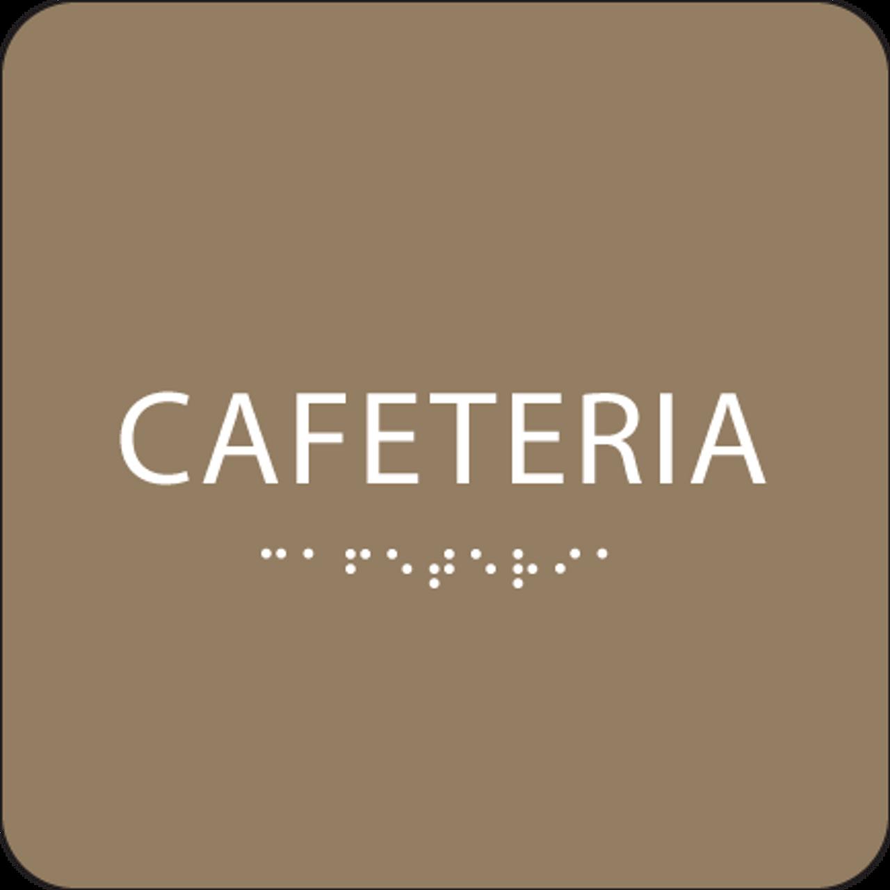 Brown Cafeteria ADA Sign
