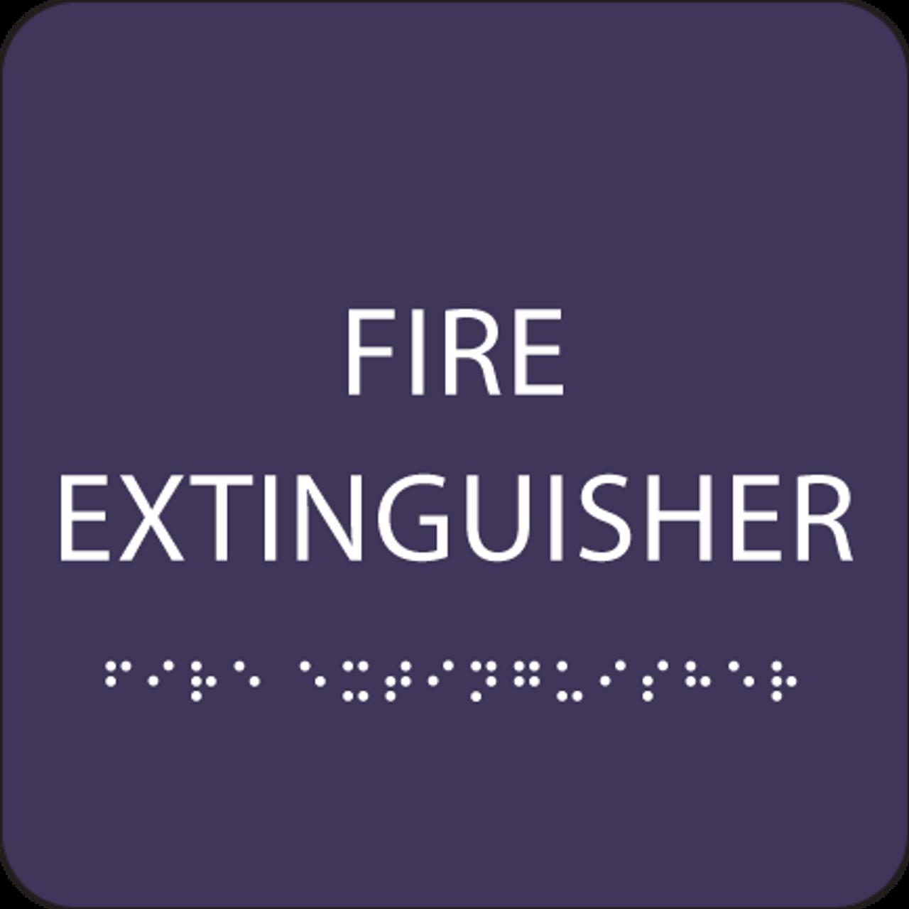 Purple Fire Extinguisher ADA Sign