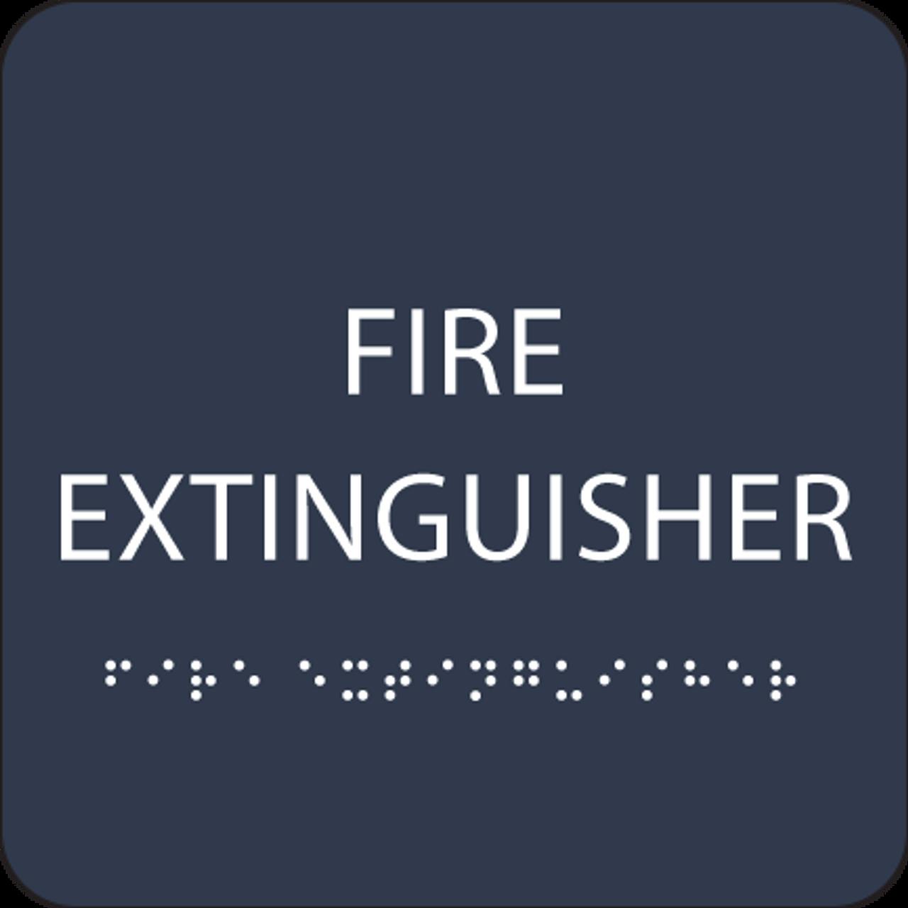 Navy Fire Extinguisher ADA Sign