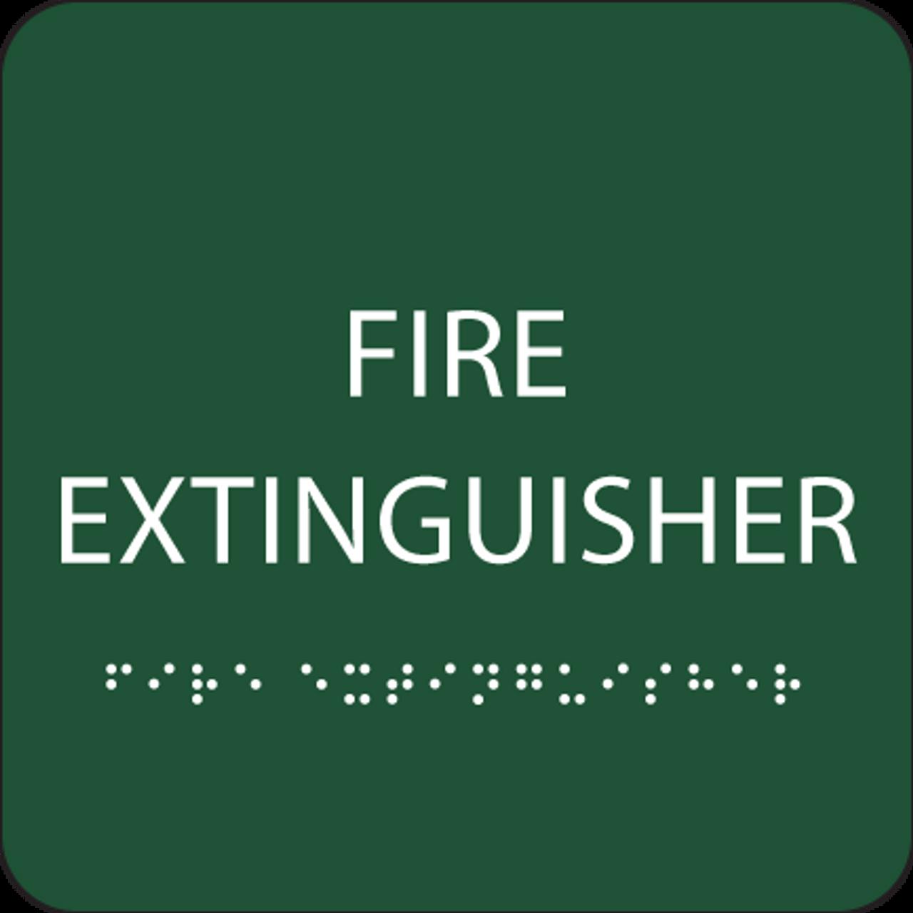 Green Fire Extinguisher ADA Sign