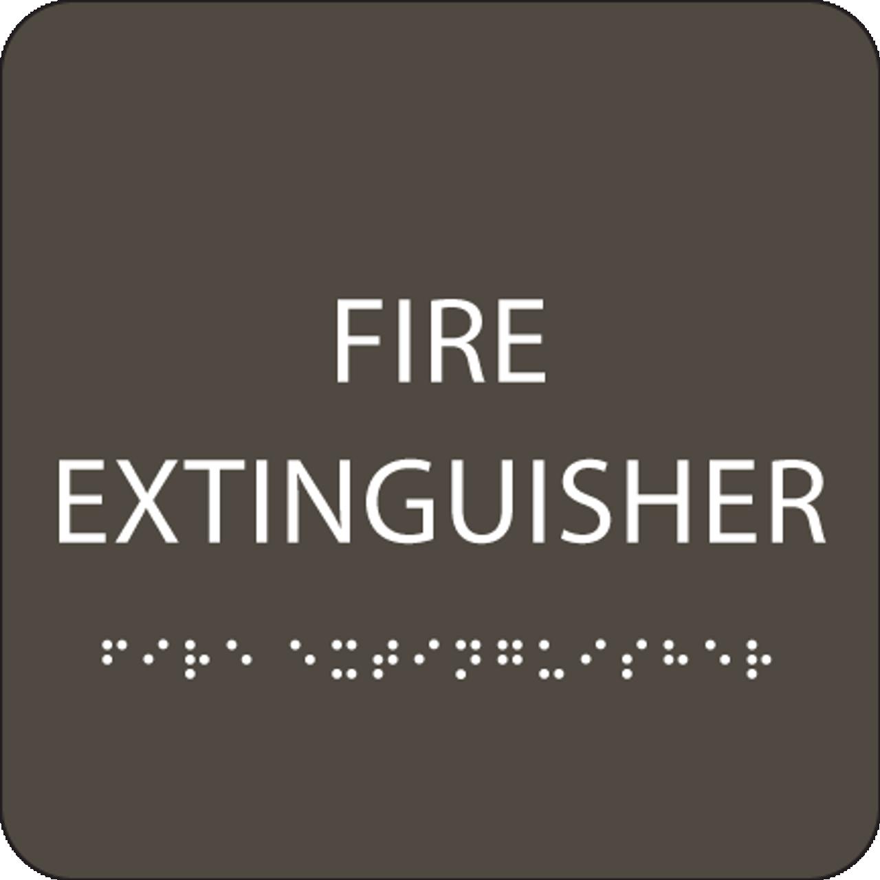 Olive Fire Extinguisher ADA Sign