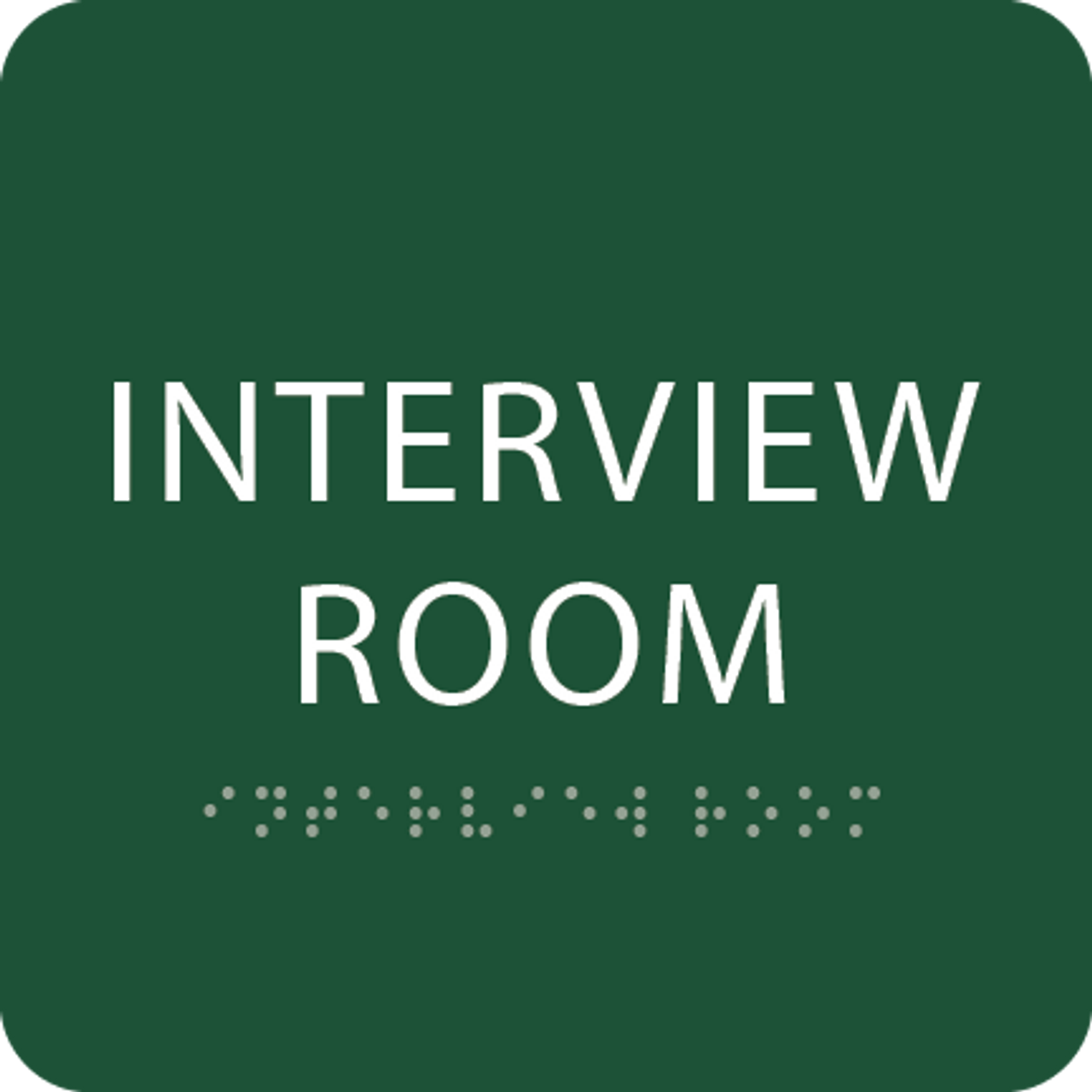 Green Interview Room ADA Sign