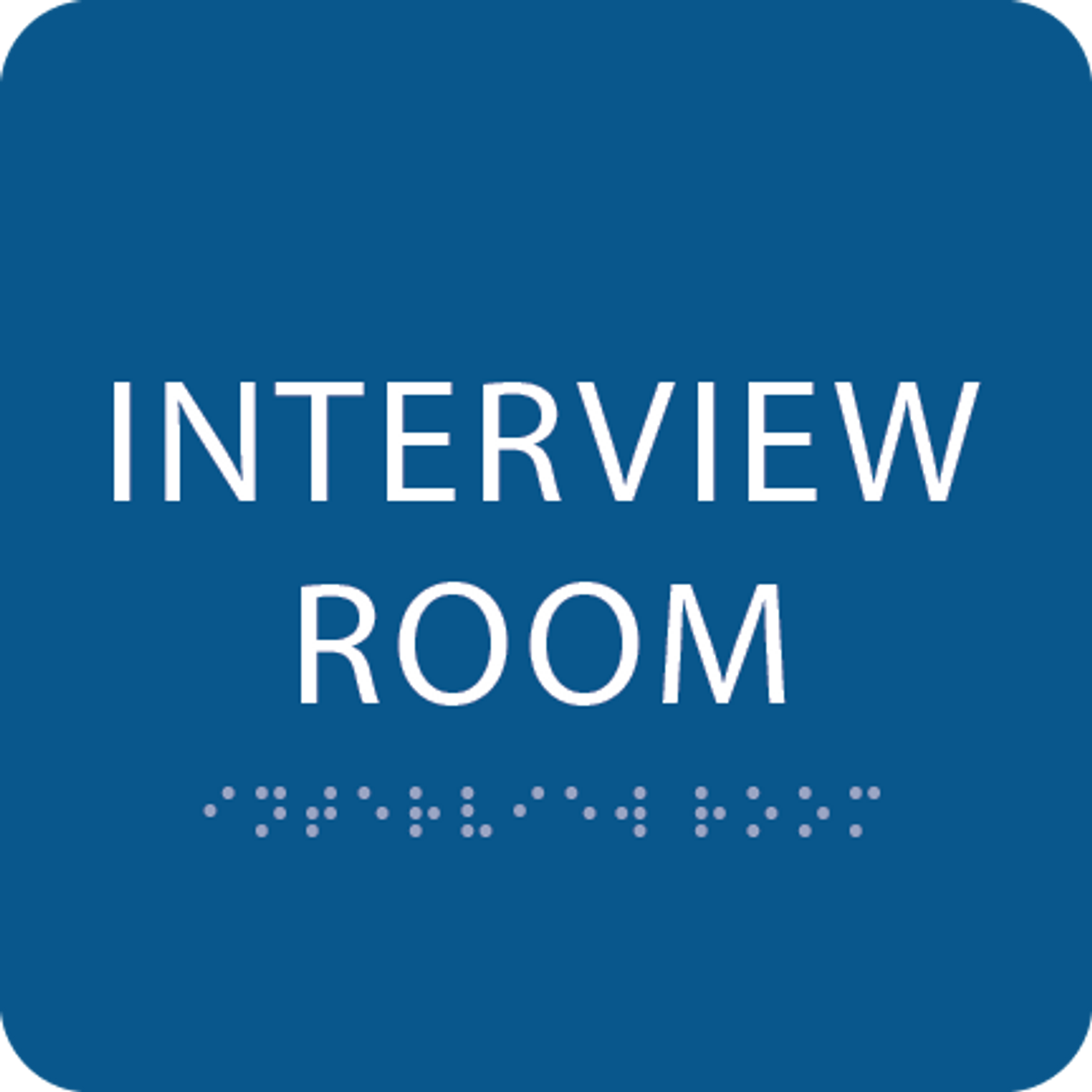 Blue Interview Room ADA Sign