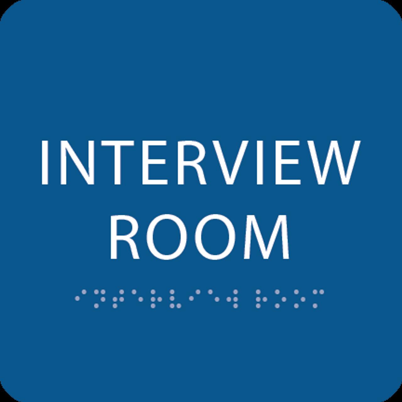 Blue Interview Room ADA Sign