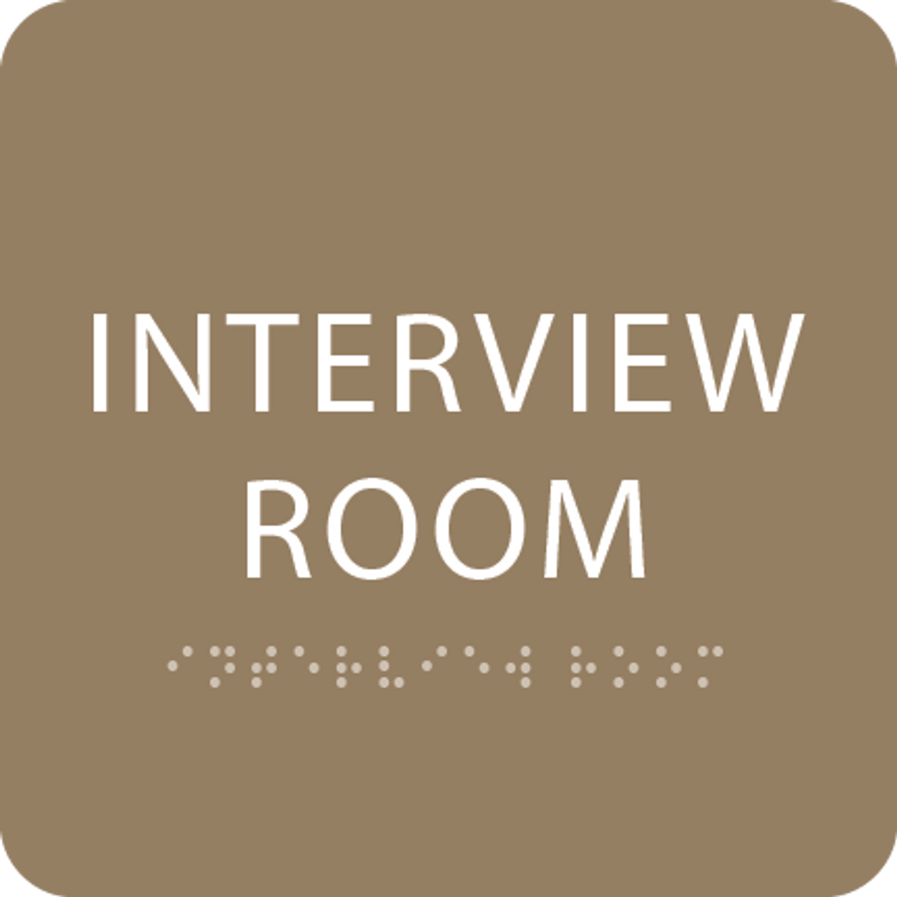 Brown Interview Room ADA Sign