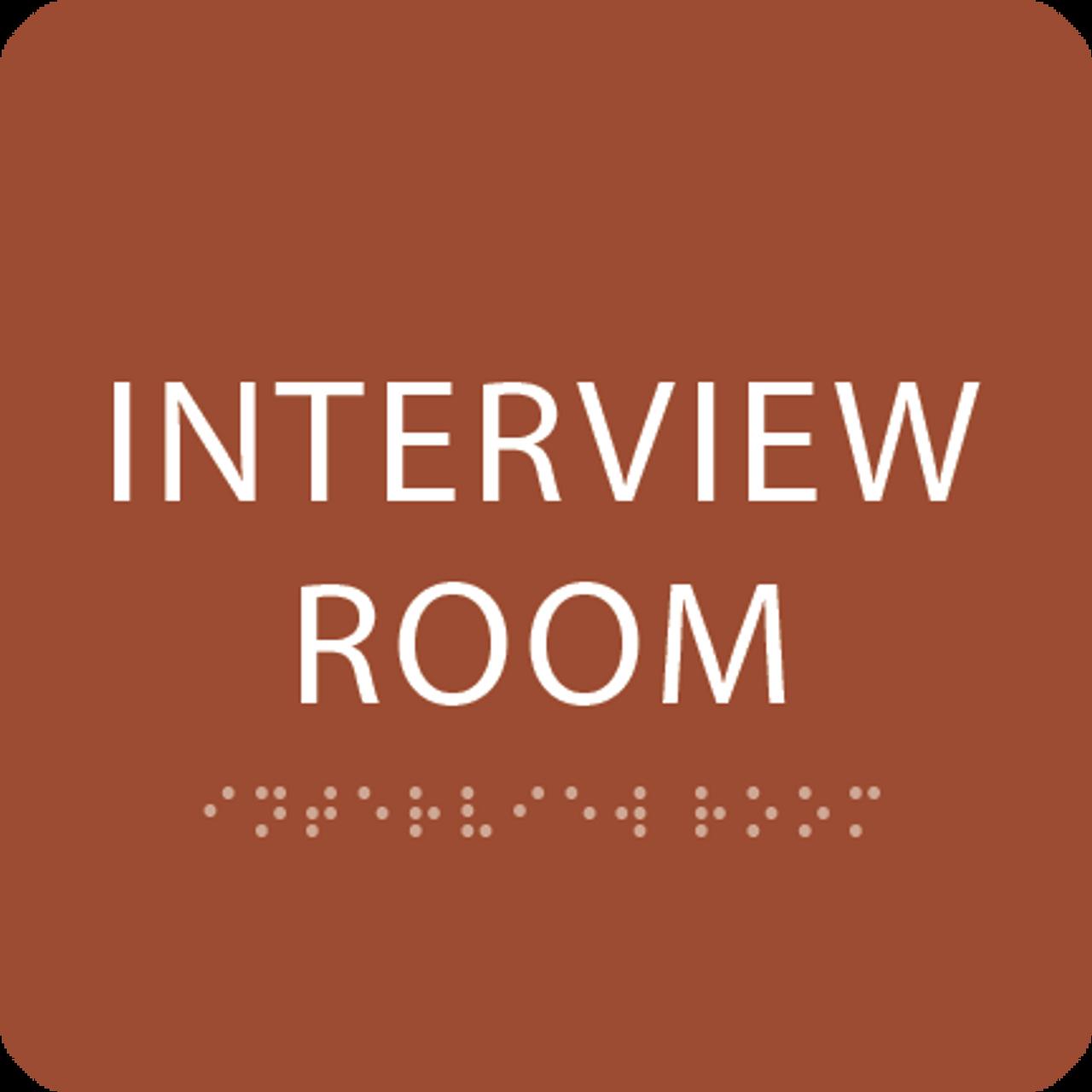 Orange Interview Room ADA Sign