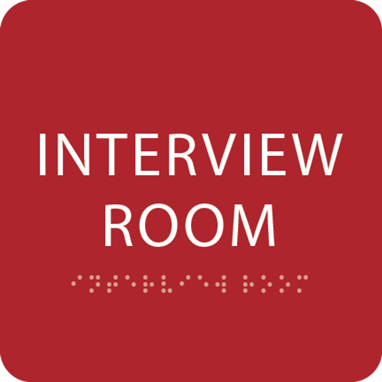 Red Interview Room ADA Sign