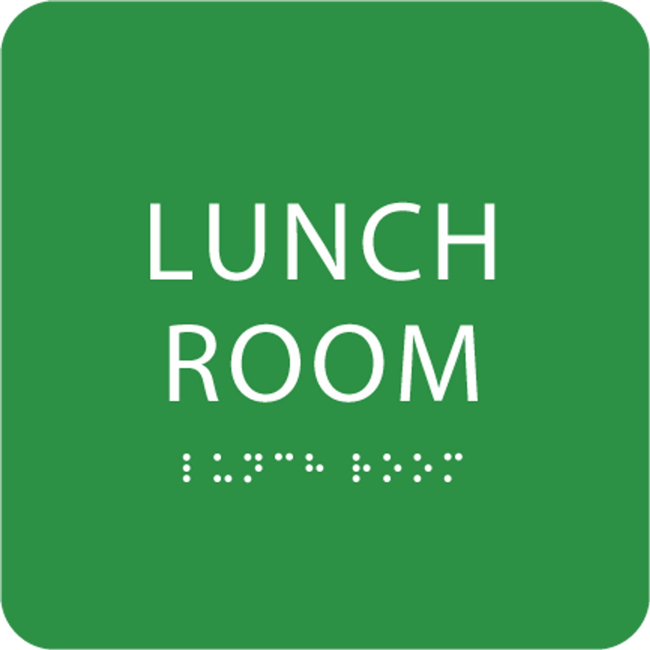 Green Lunch Room ADA Sign