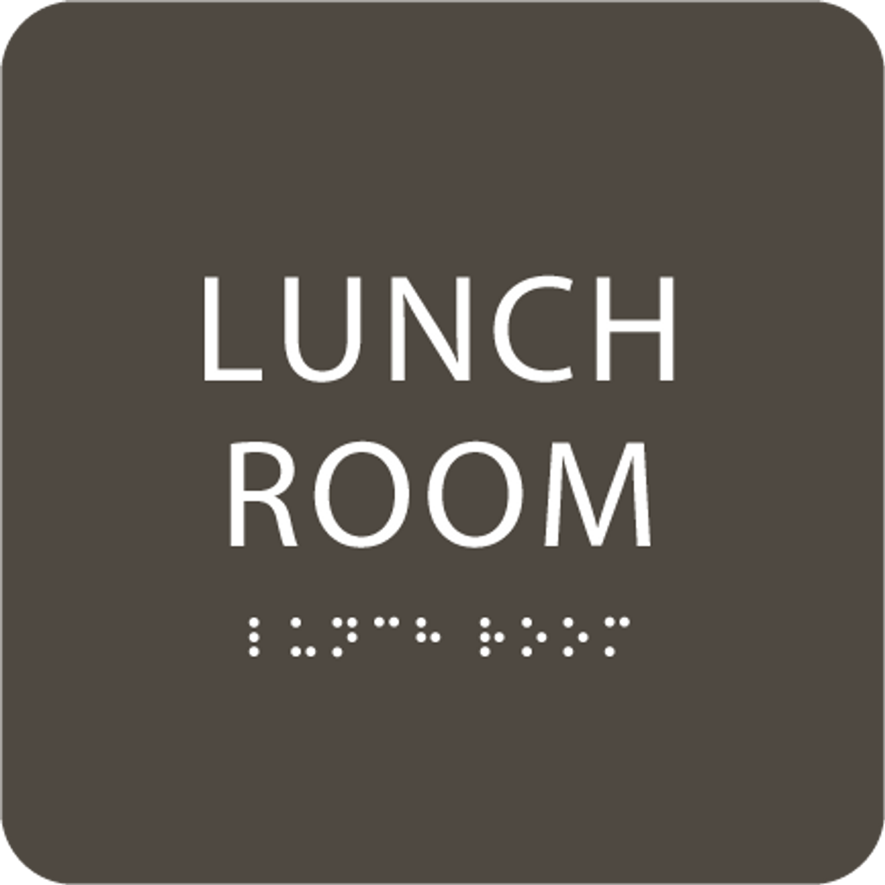 Olive Lunch Room ADA Sign